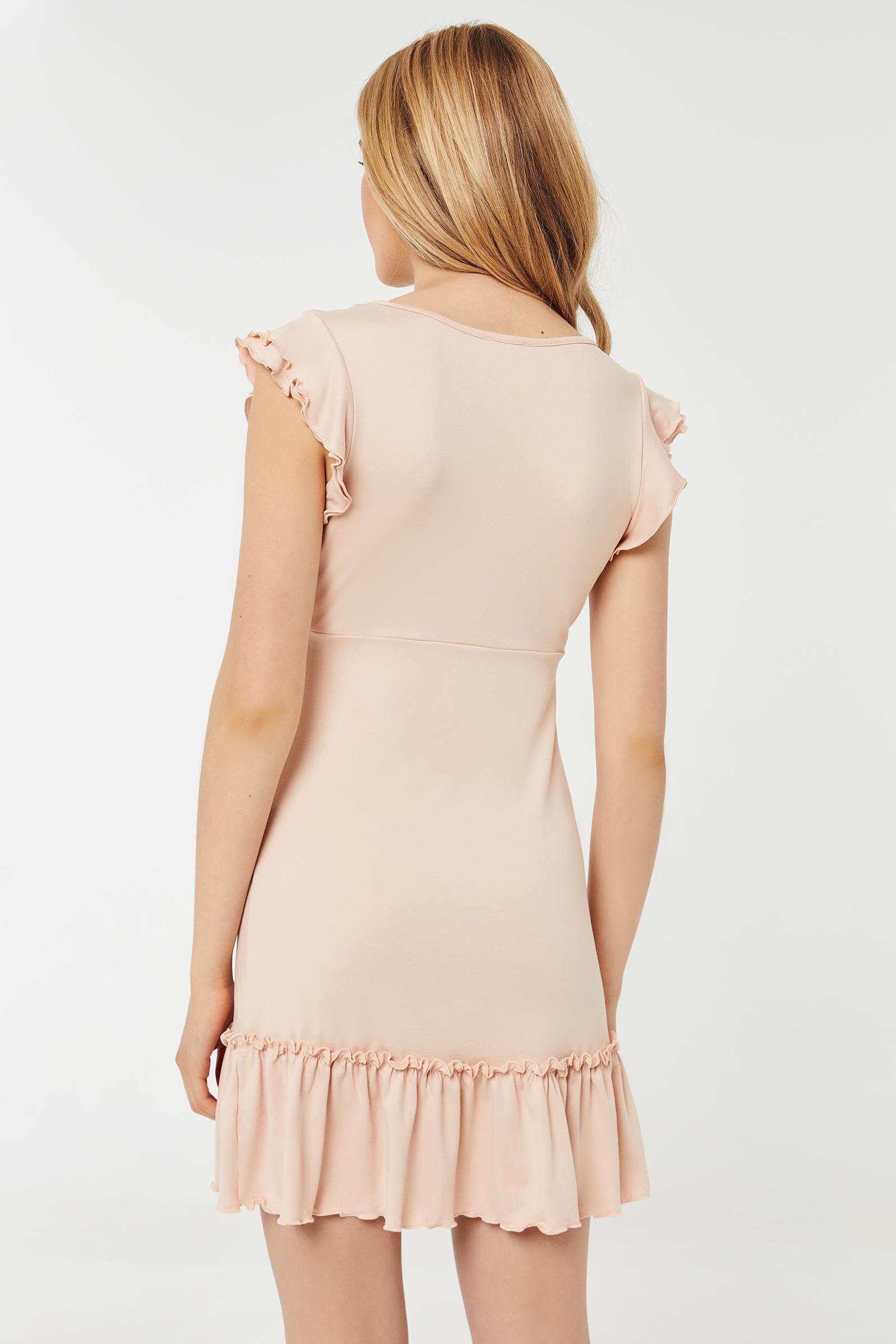 Mini Dress with Flounces