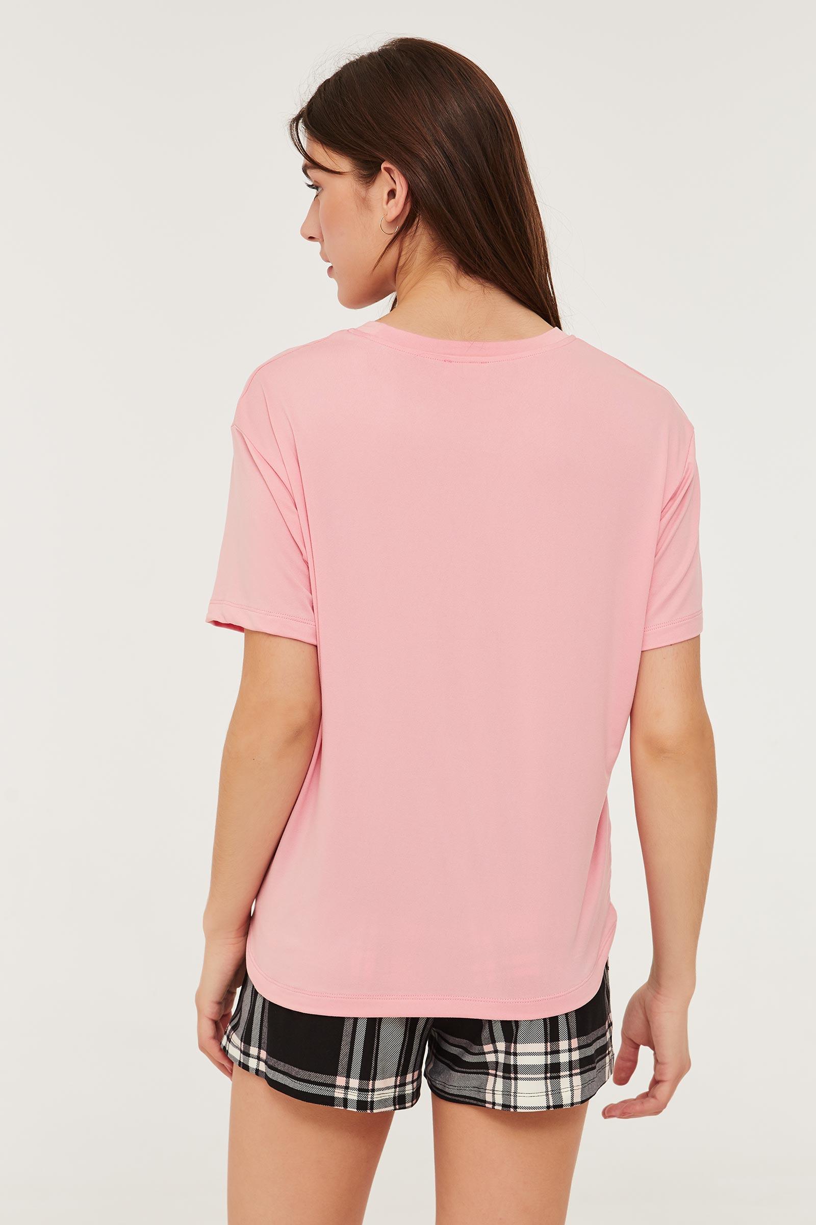 T-shirt pyjama graphique doux
