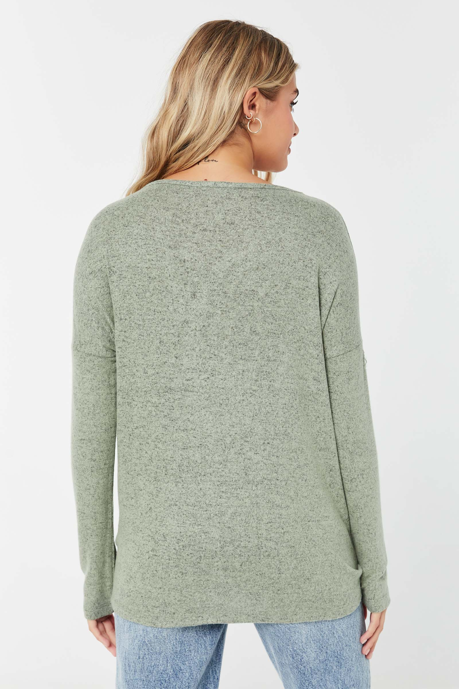 Tie-Front Button-Down Cardigan