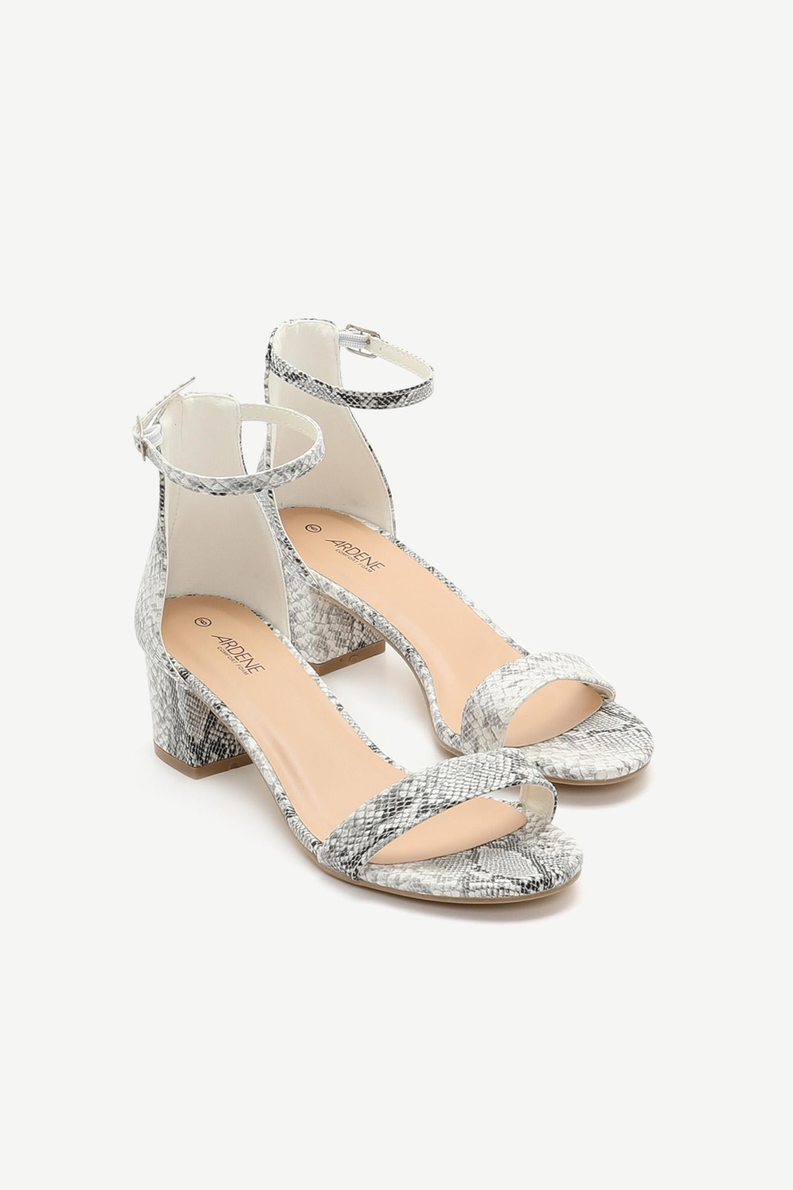 Snakeskin D'Orsay Sandals