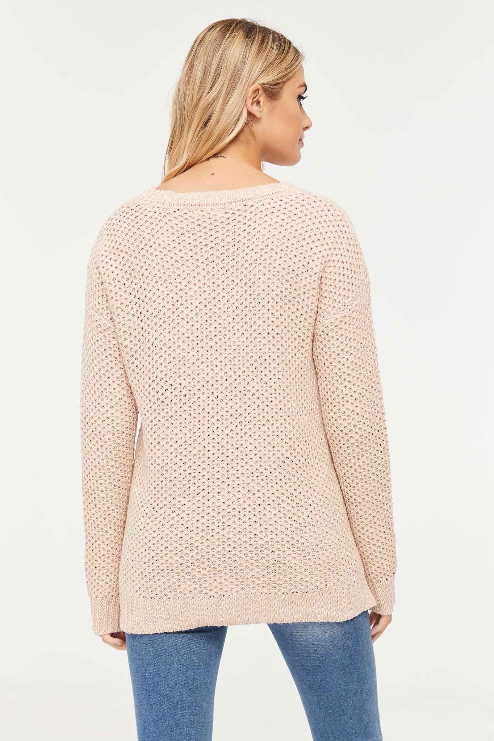 Chandail en tricot épais à zip