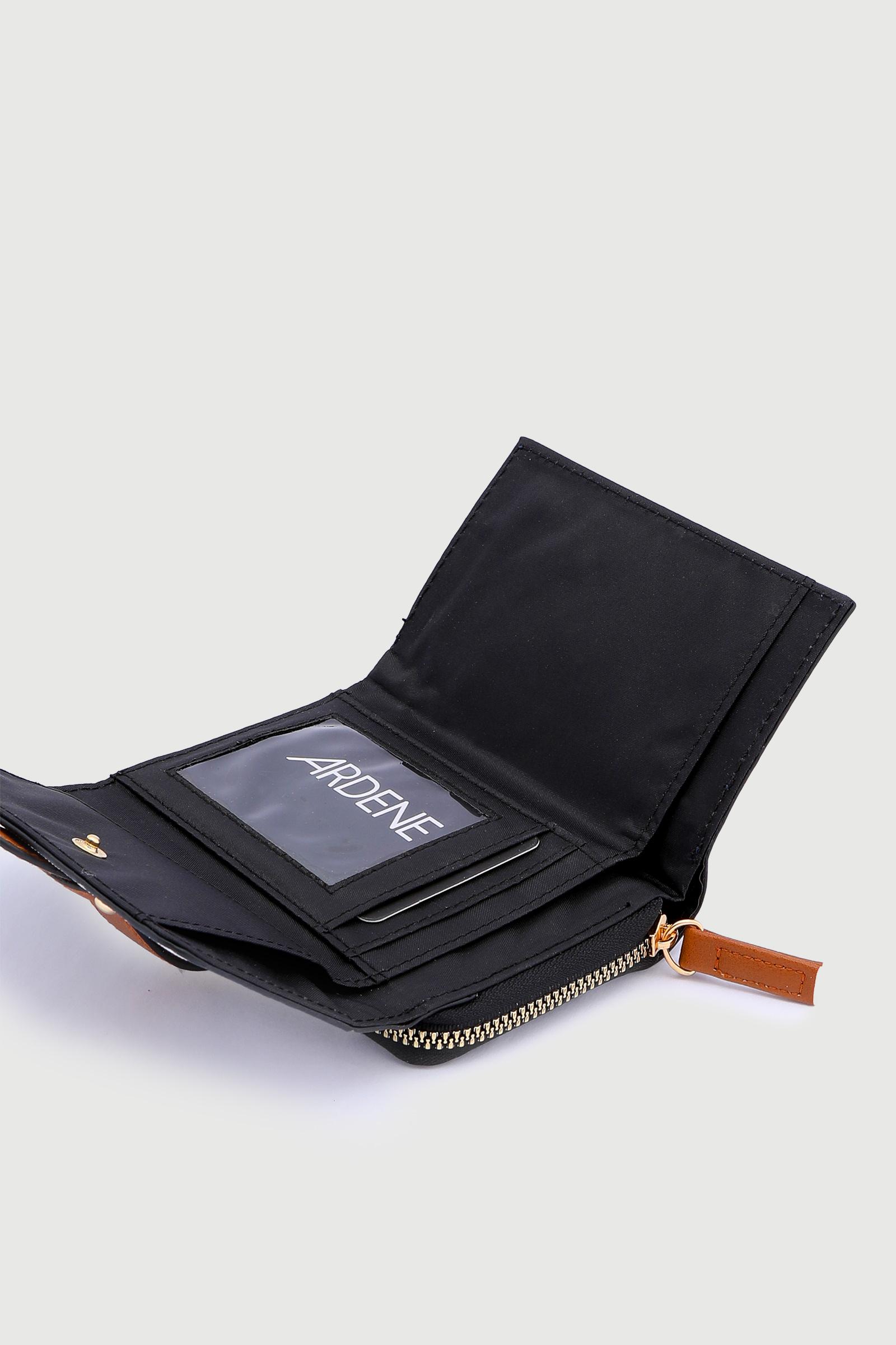 Striped Folded Wallet