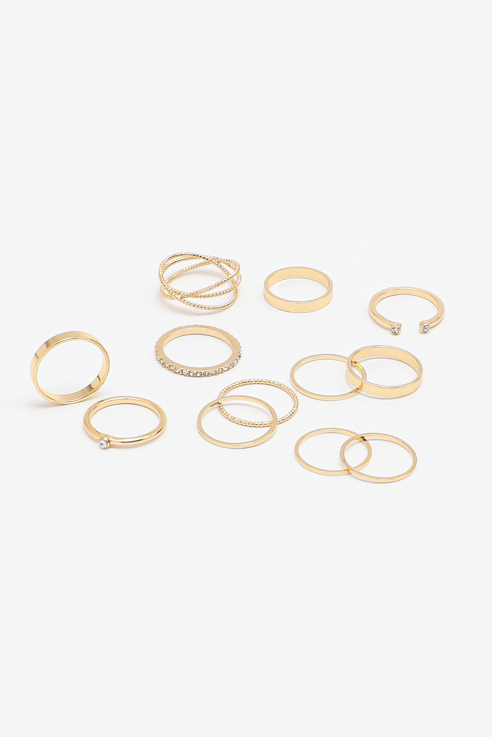 8-Pack Gold Rings