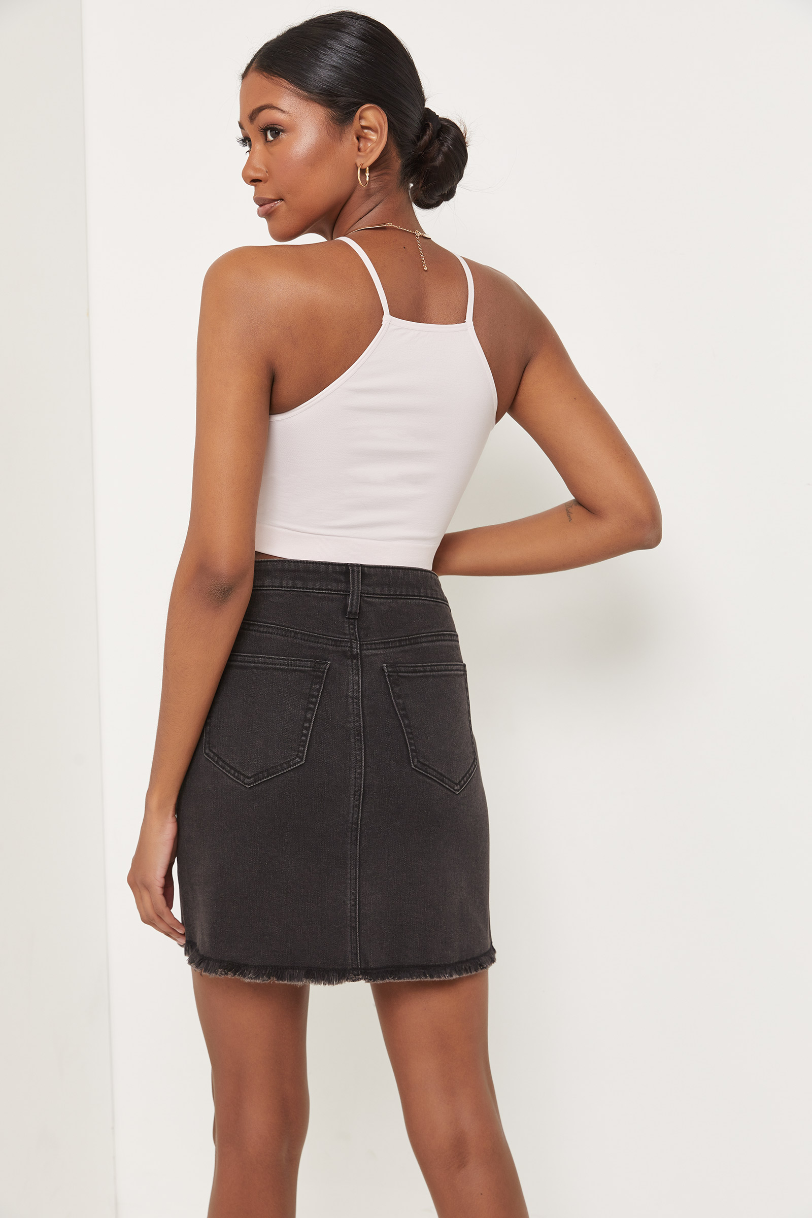 Eco-Conscious Denim Mini Skirt