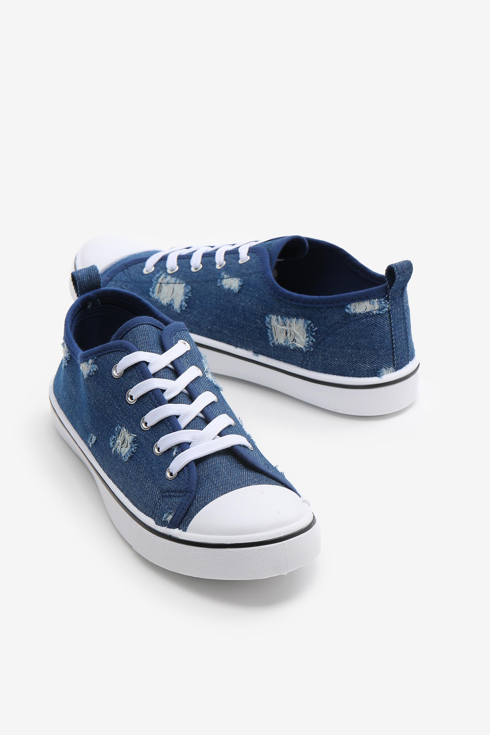 Ripped Denim Sneakers