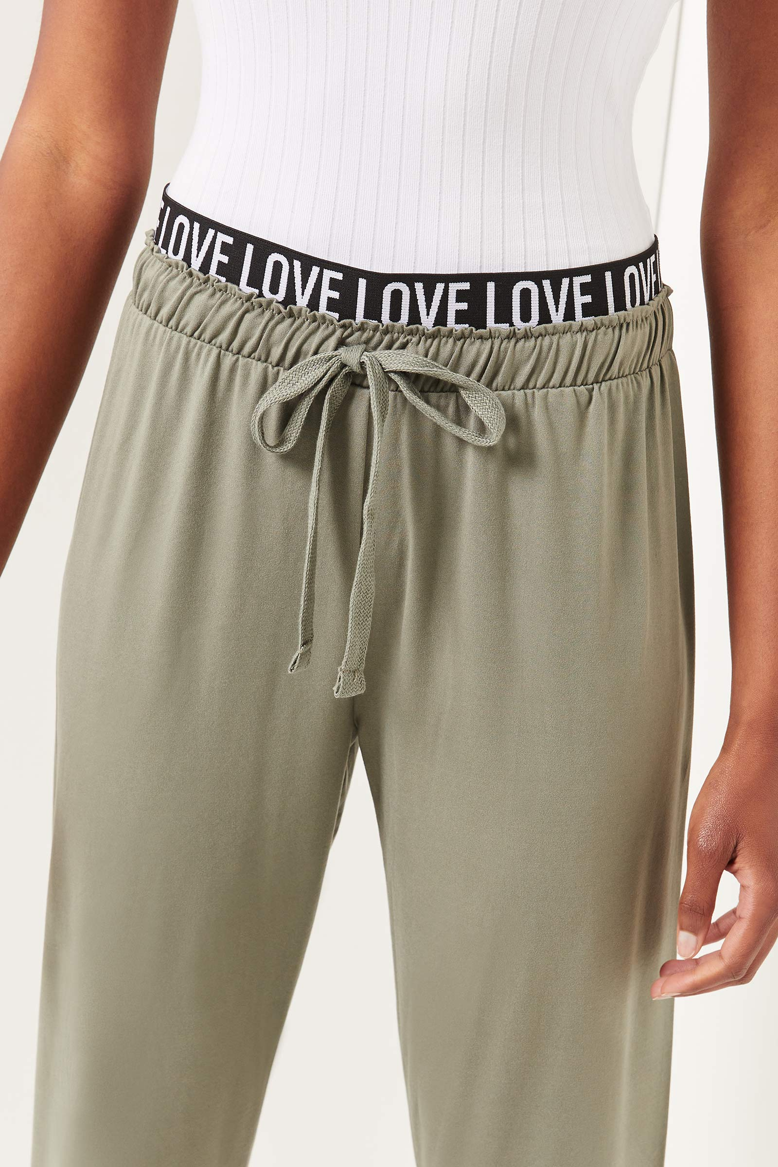 Joggers with Love Waistband