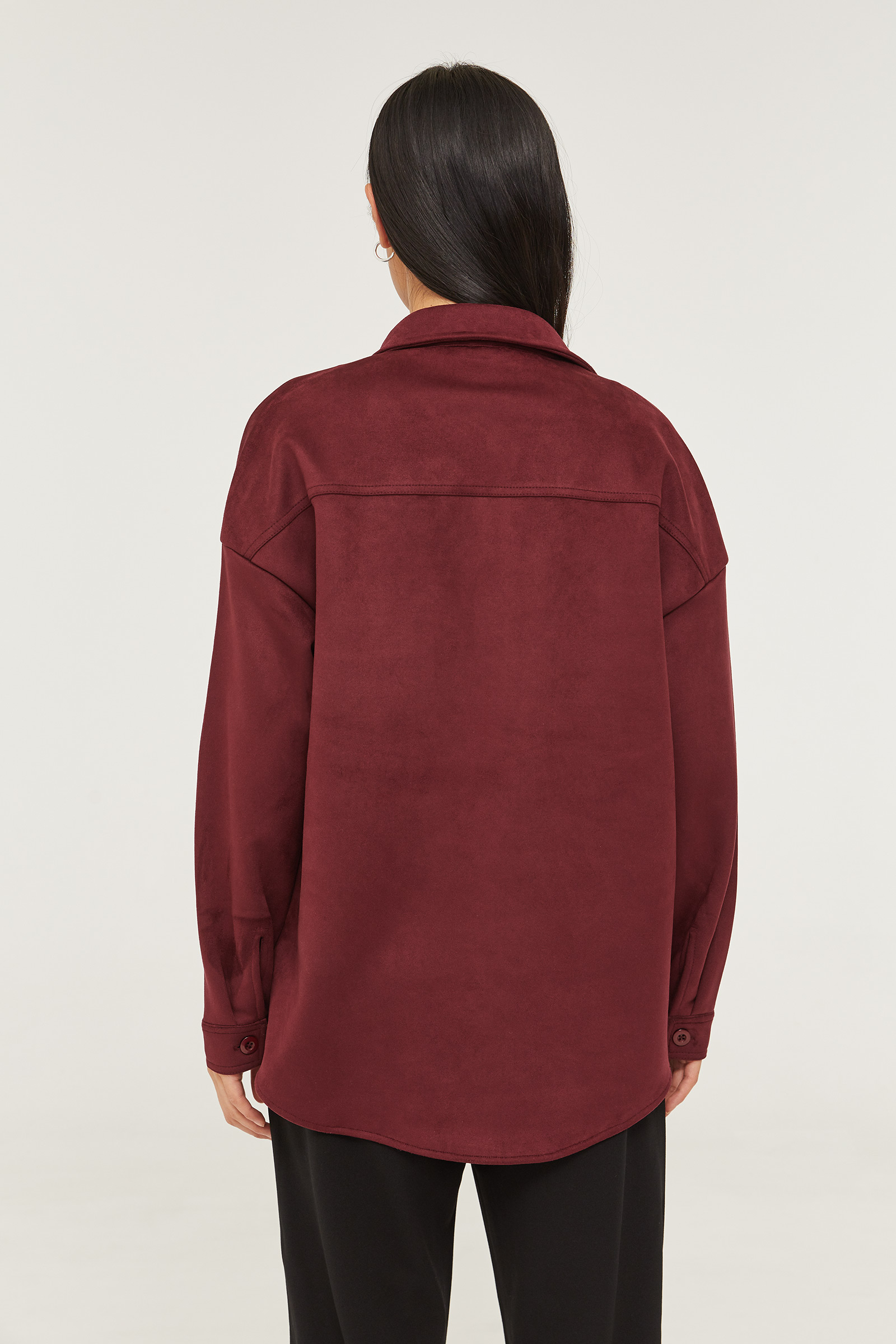 Faux Suede Shacket