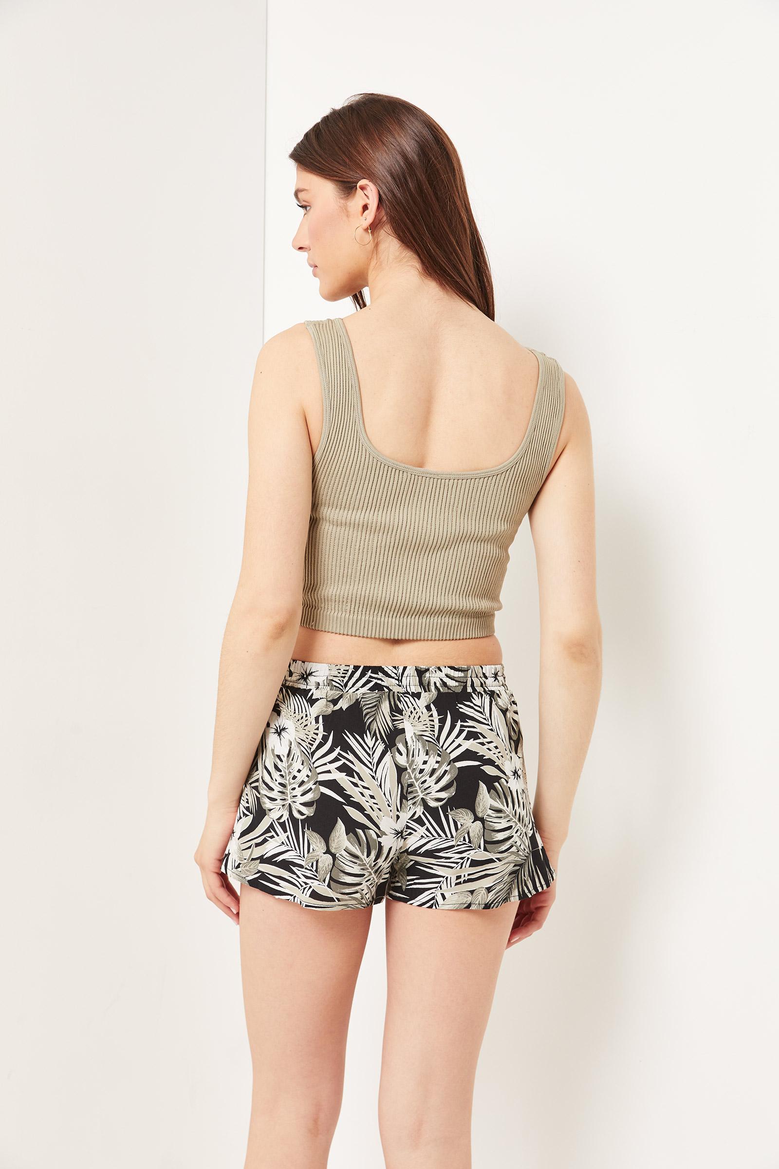 Basic Floral Rayon Shorts