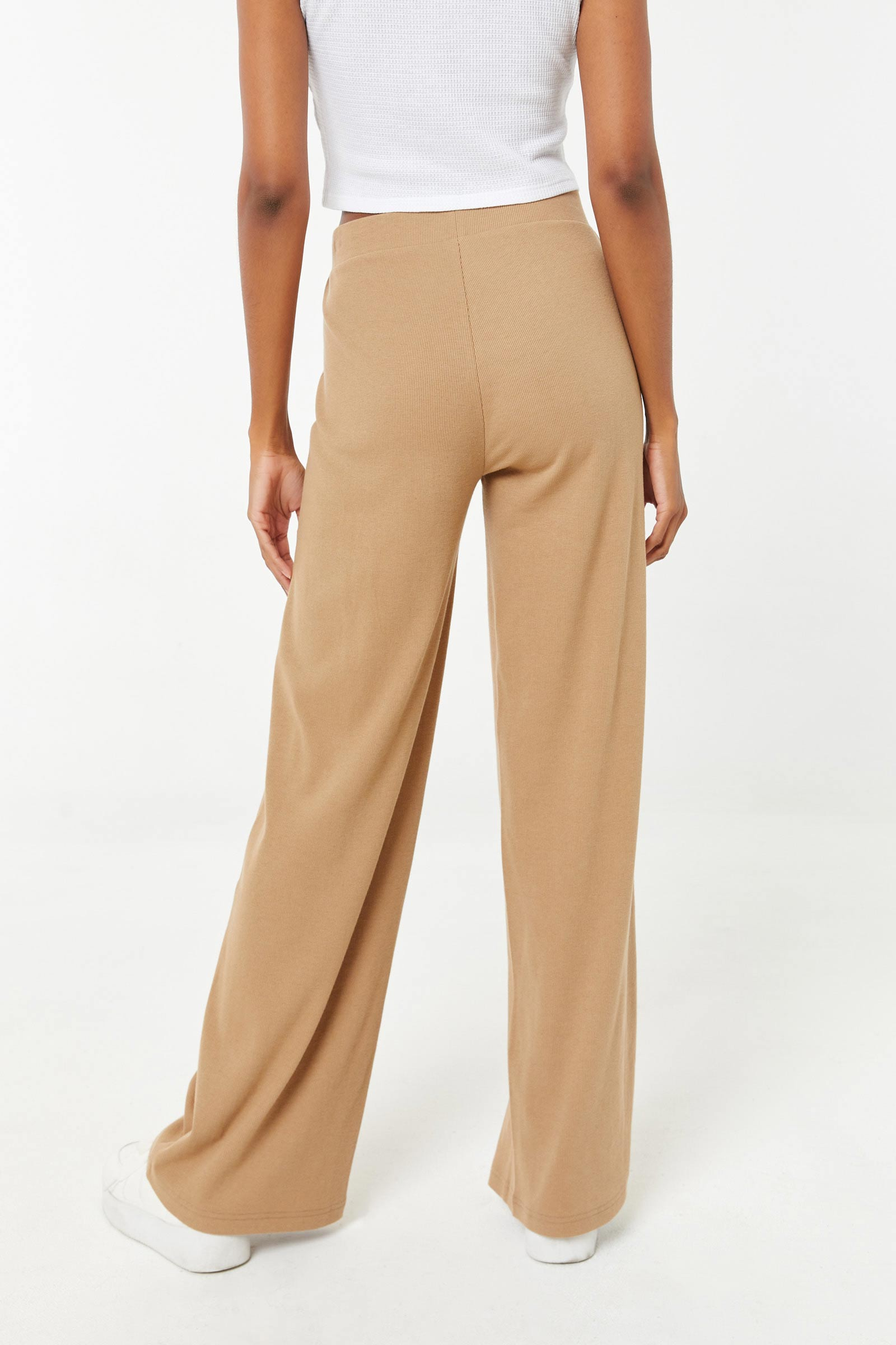 Wide Leg Ribbed Pants