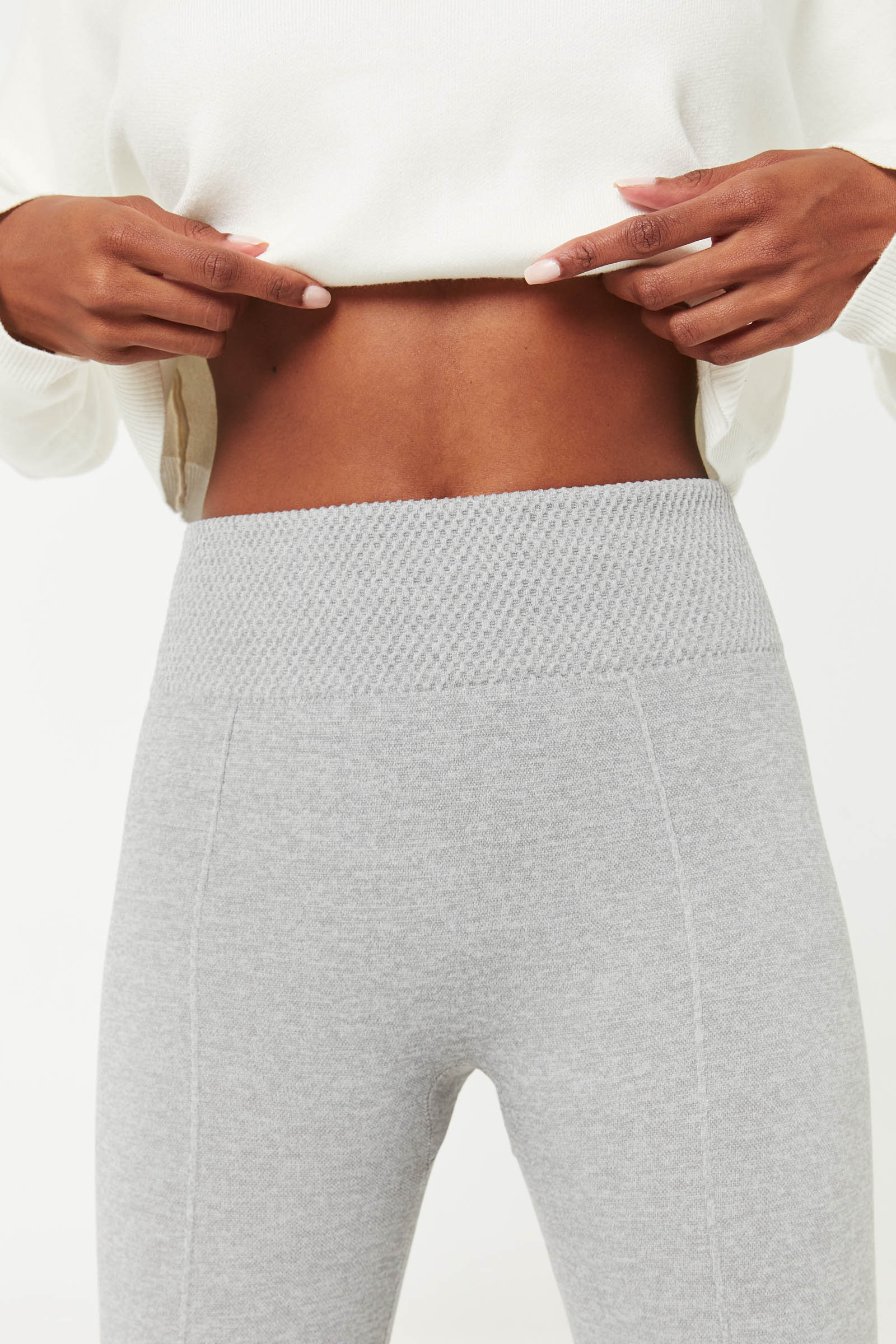 Seamless Leggings with Slimming Waistband