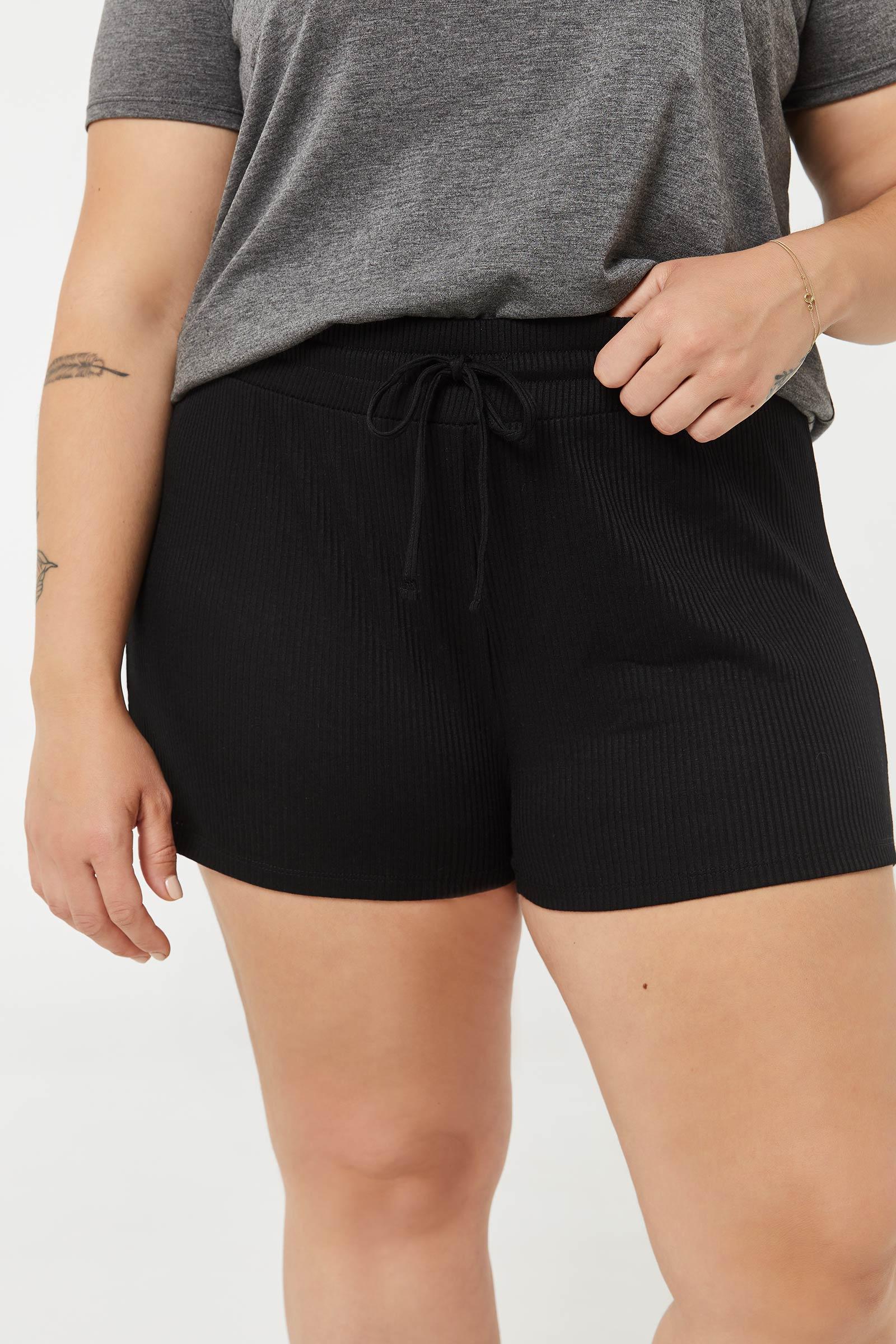 Plus Size Lounge Ribbed PJ Shorts