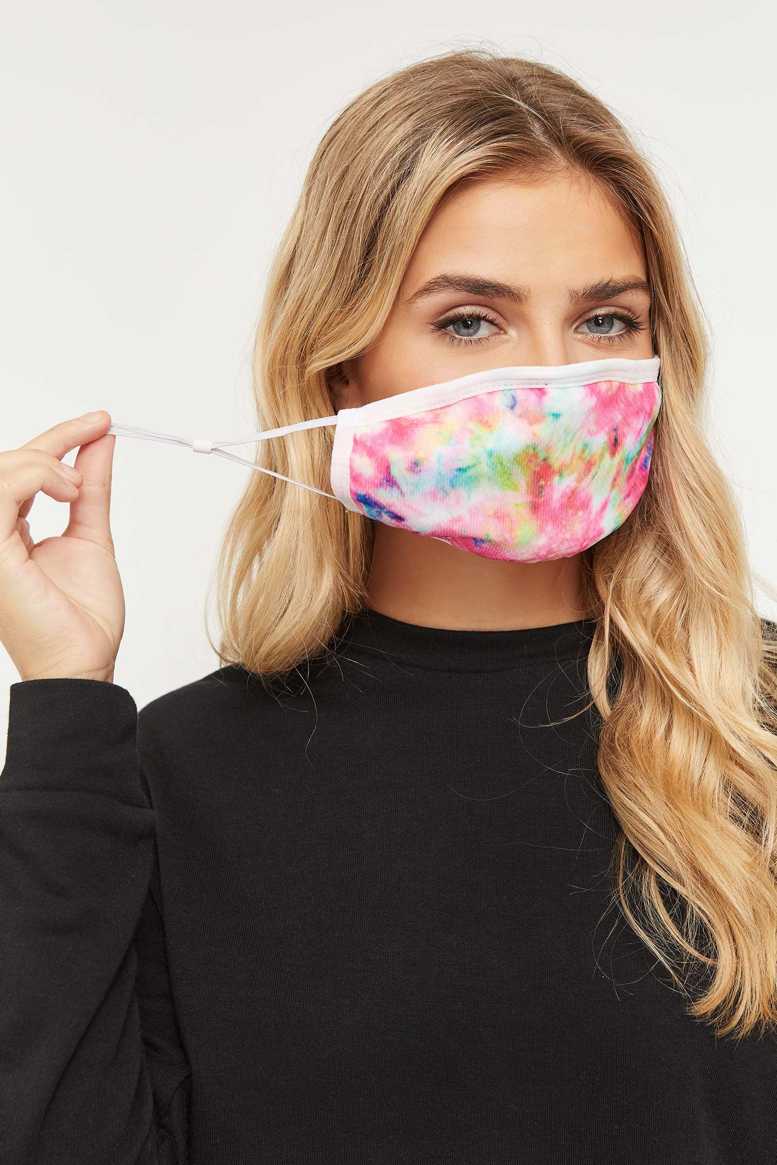 Couvre-visage tie-dye réutilisable