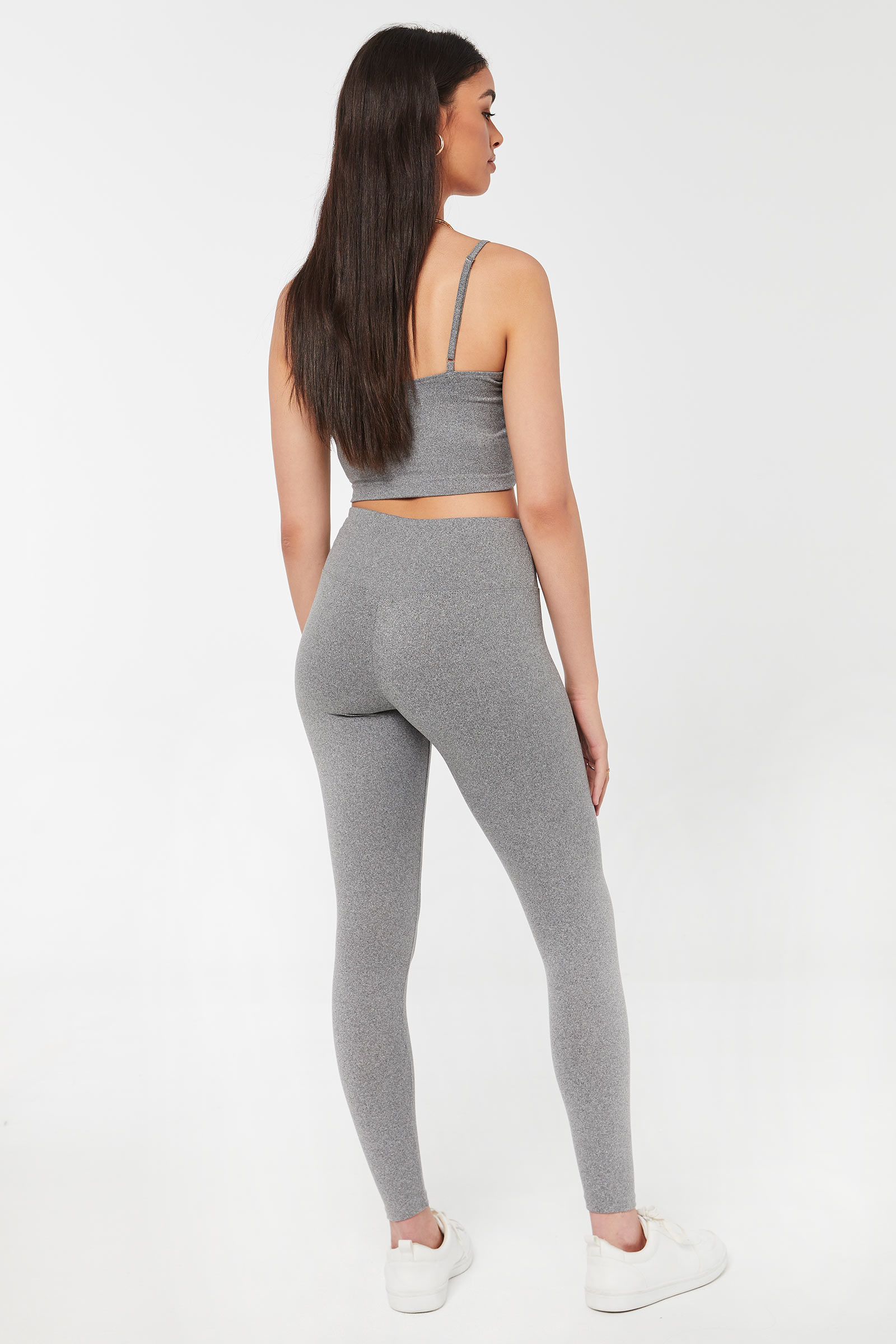 Drawstring Leggings with Ruched Front