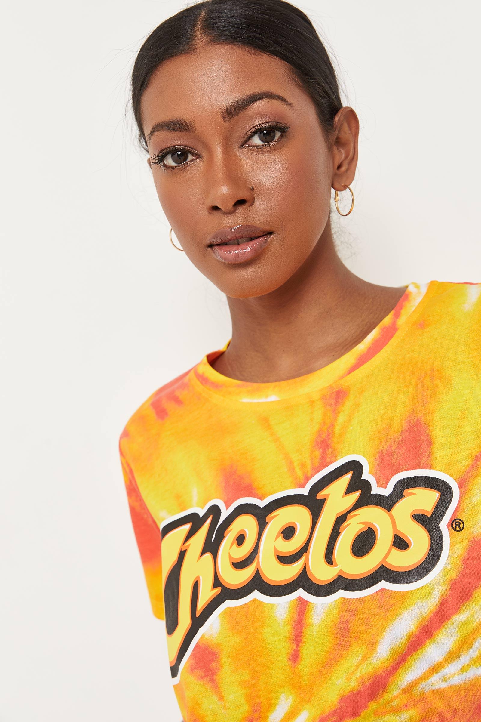 Tie-Dye Cheetos Crop Tee