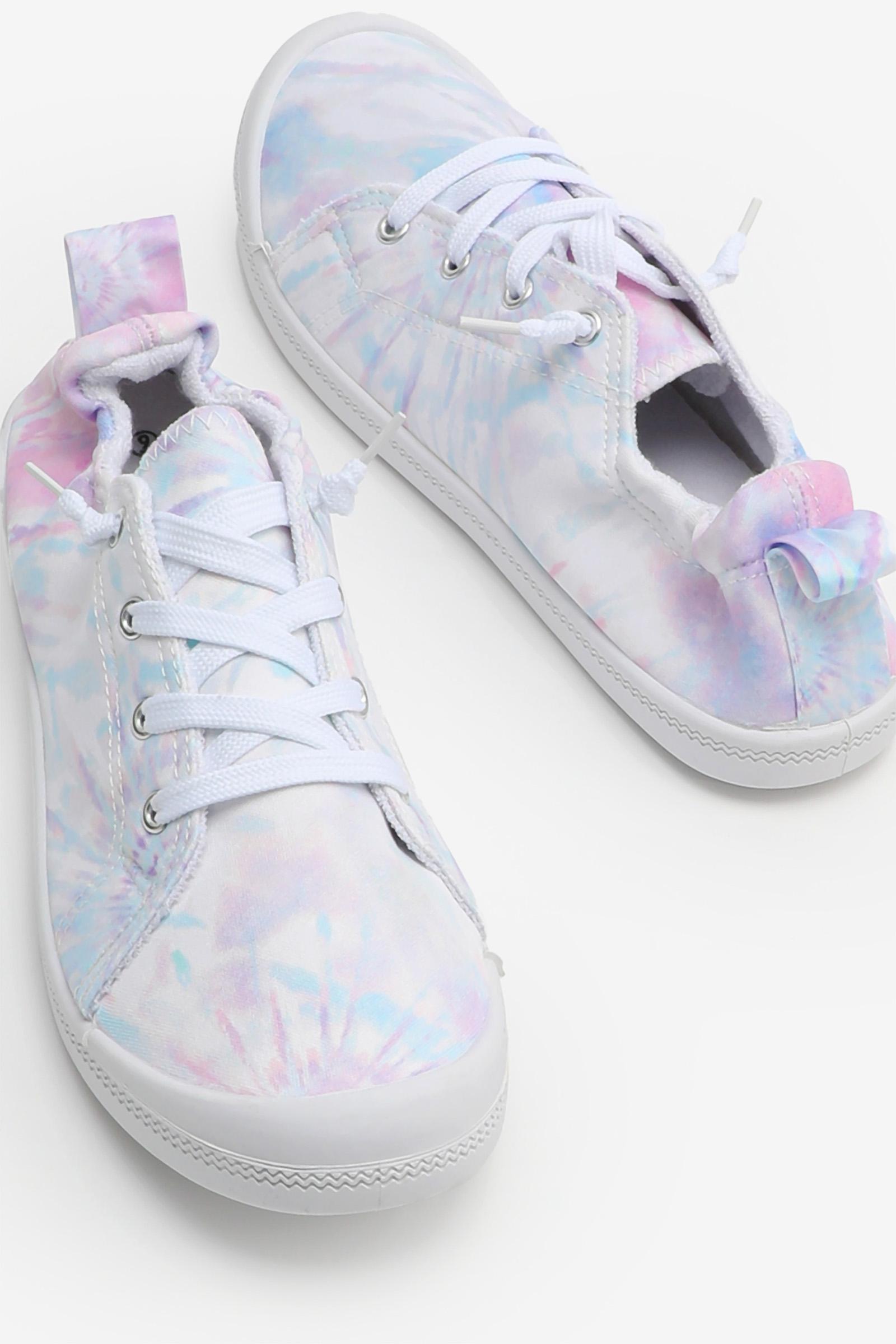 Tie-Dye Elastic Back Sneakers