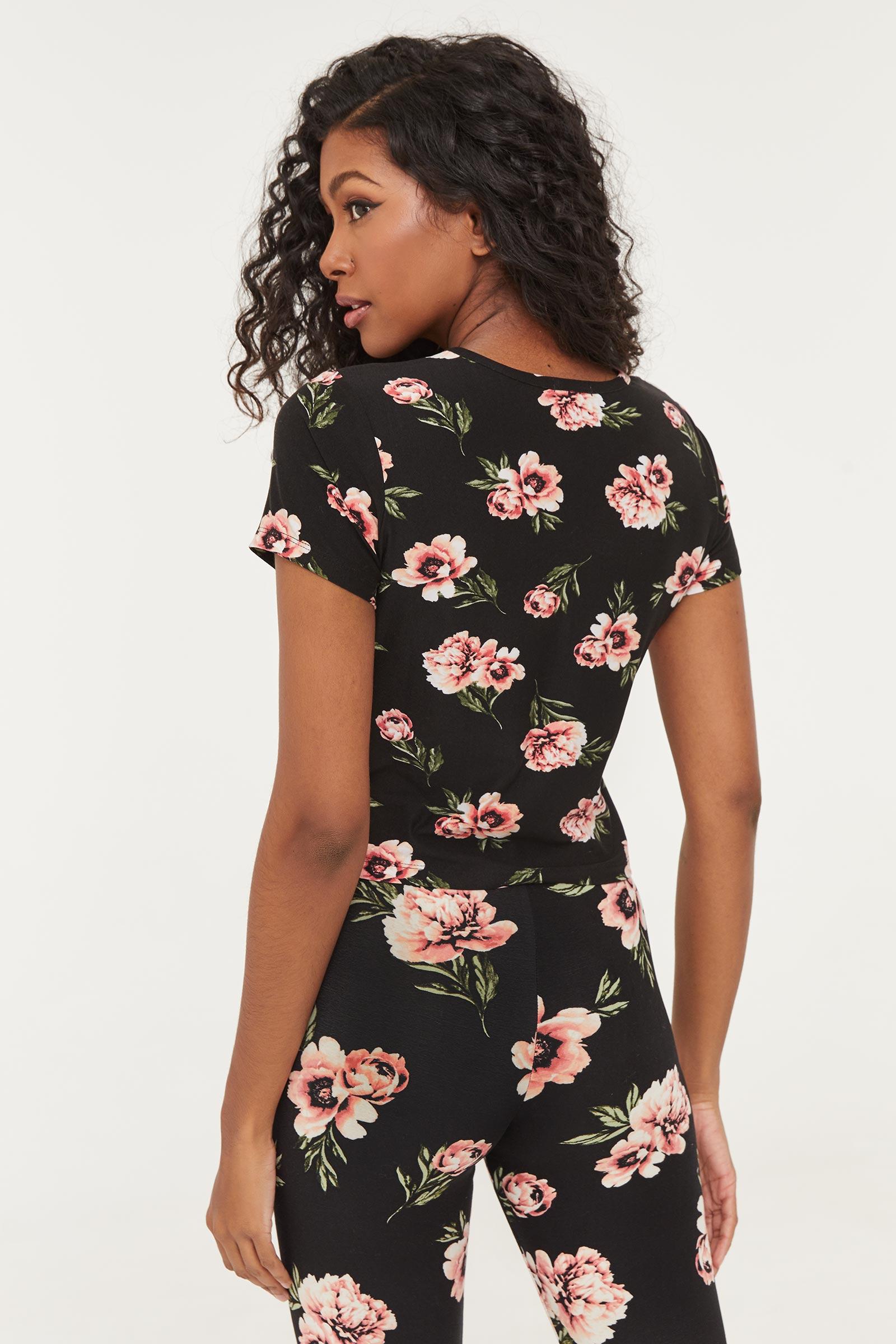 T-shirt fleuri
