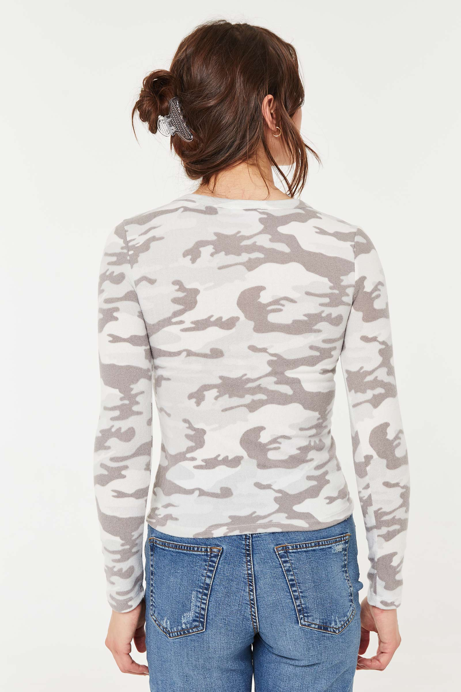 T-shirt à manches longues et cordon