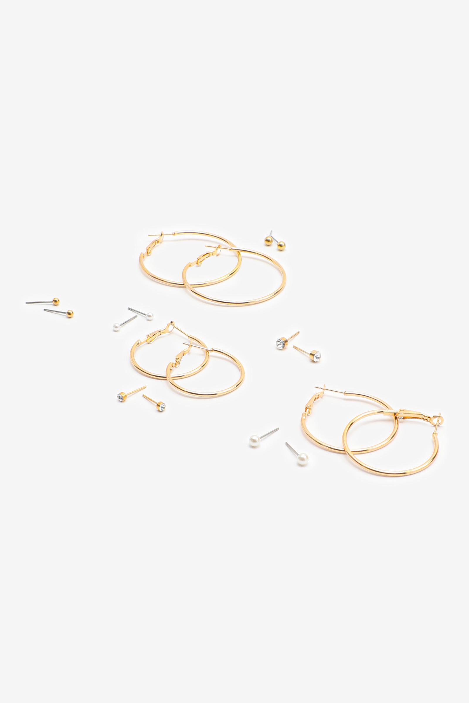 Pack of Hoop & Stud Earrings