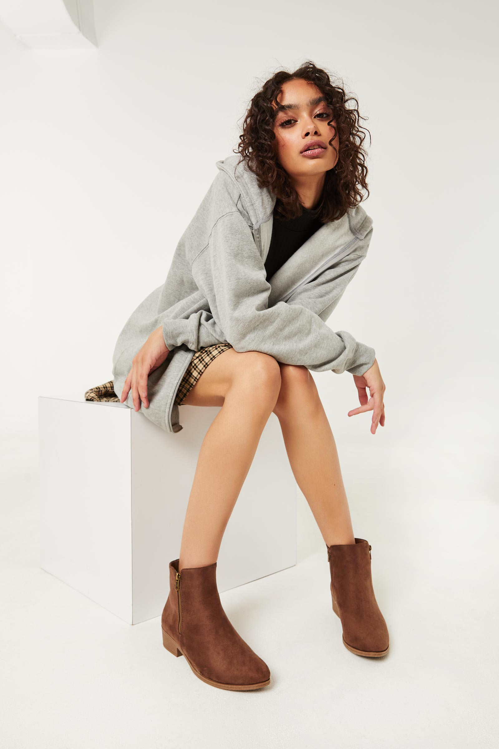 Classic Faux Leather Ankle Boots