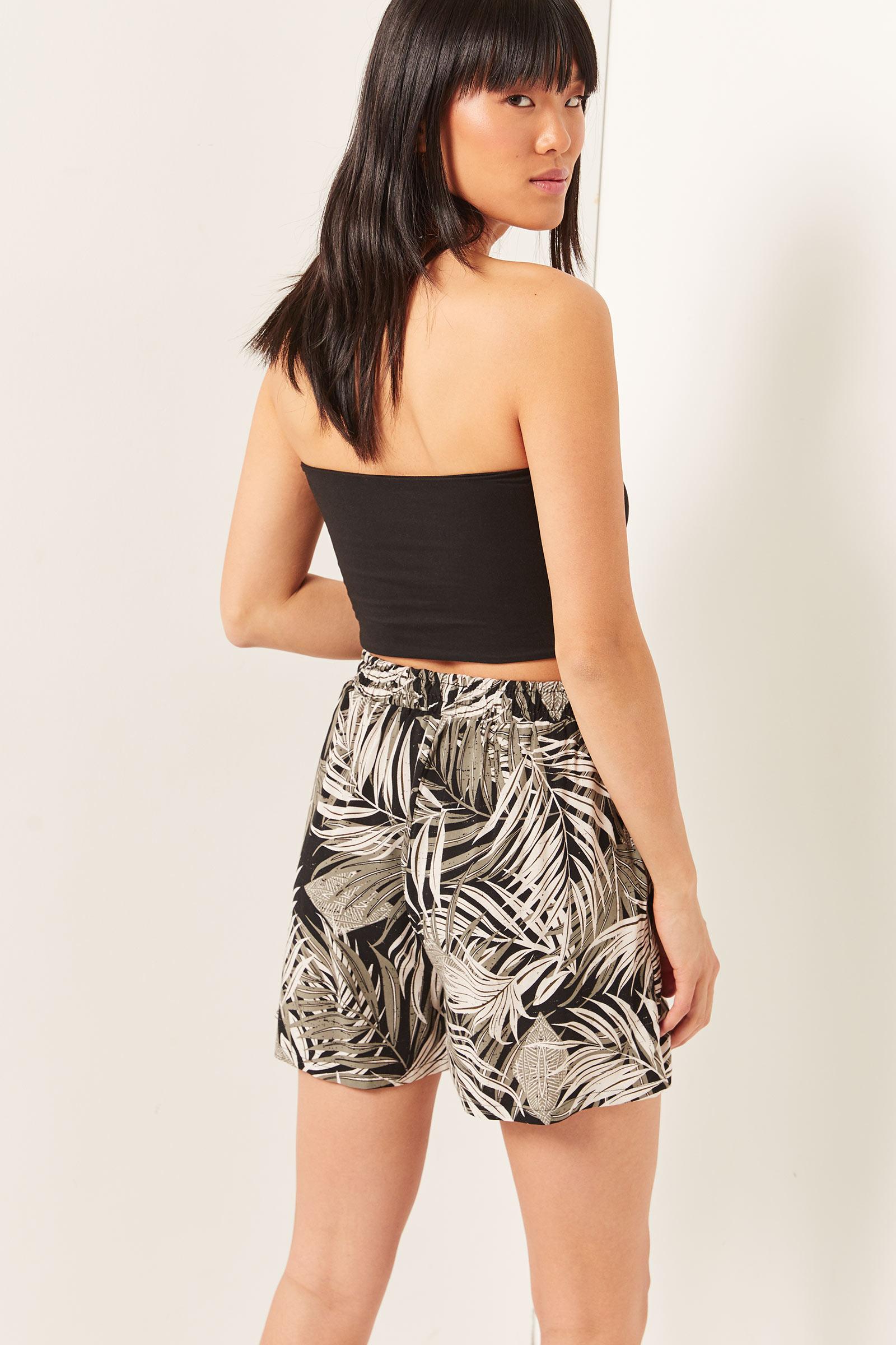 Palm Leaf Ultra High Rise Shorts