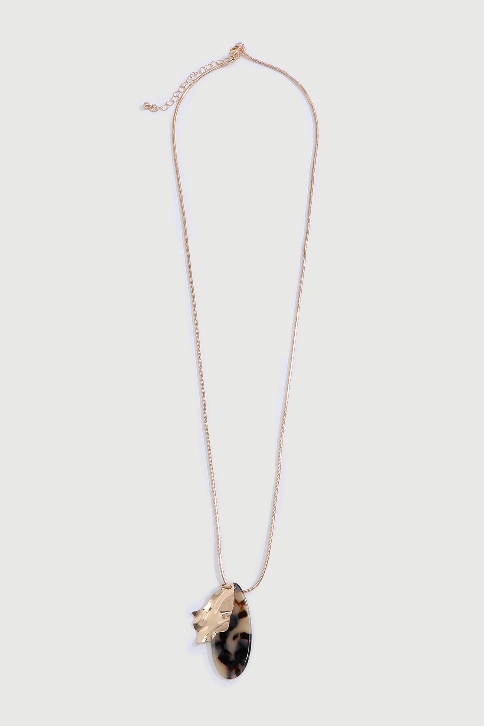 Collier à pendentif écaille de tortue