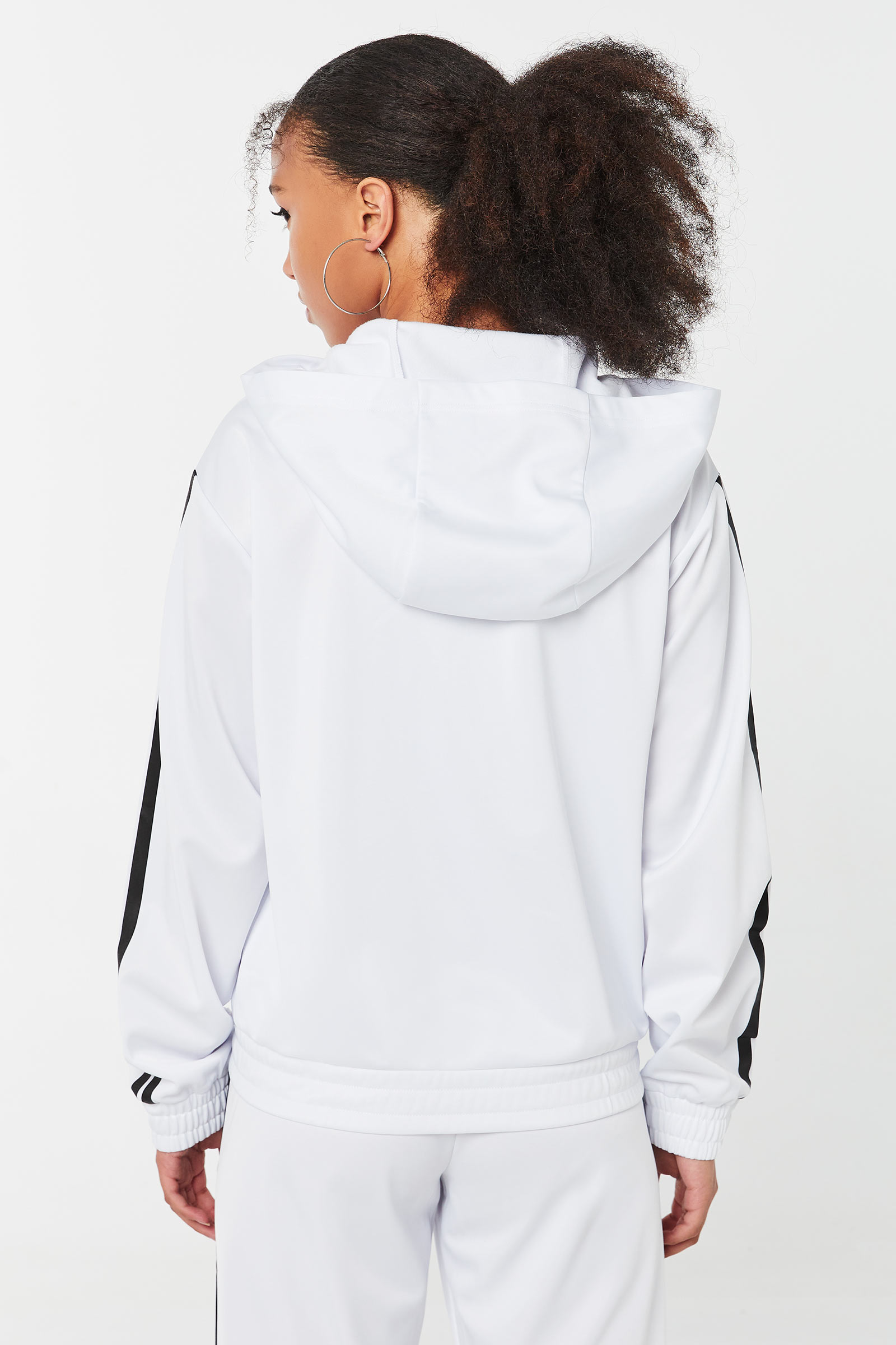 Track Jacket with Contrast Stripes