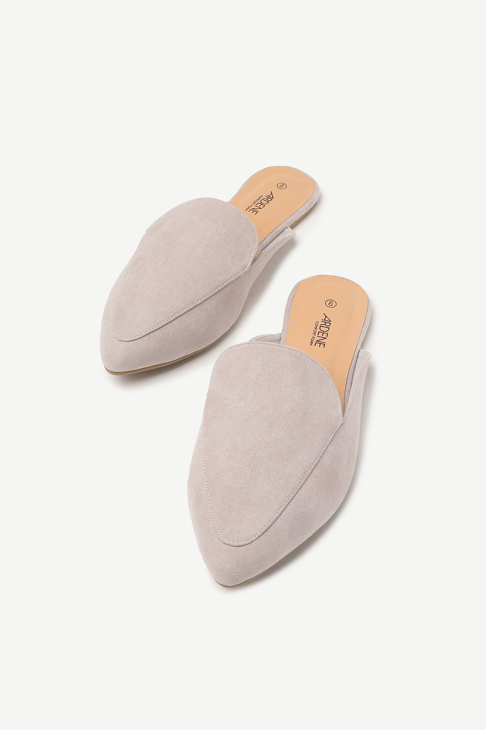 Pointy Toe Faux Suede Mules