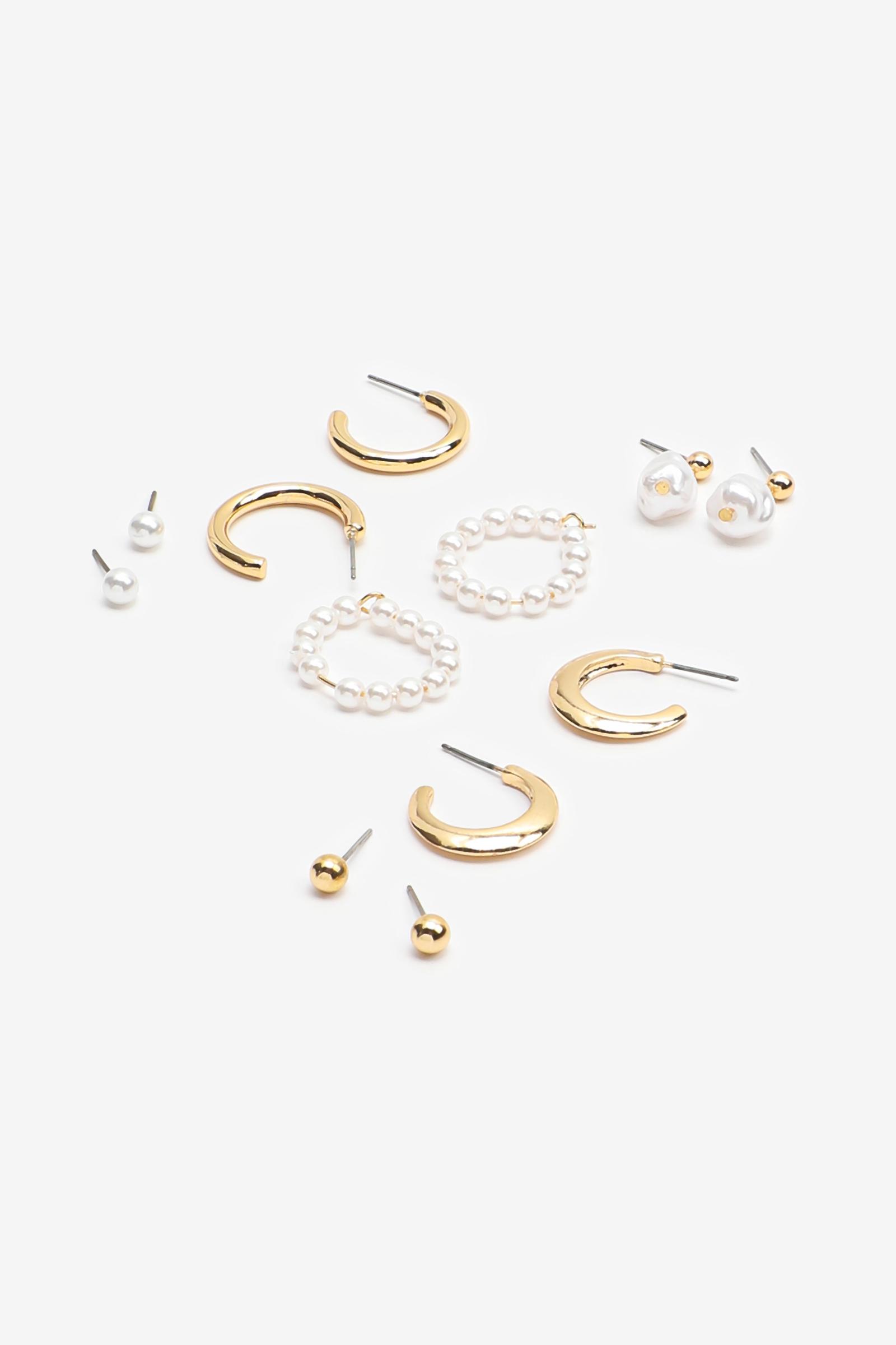 Boucles d'oreilles assorties avec perles