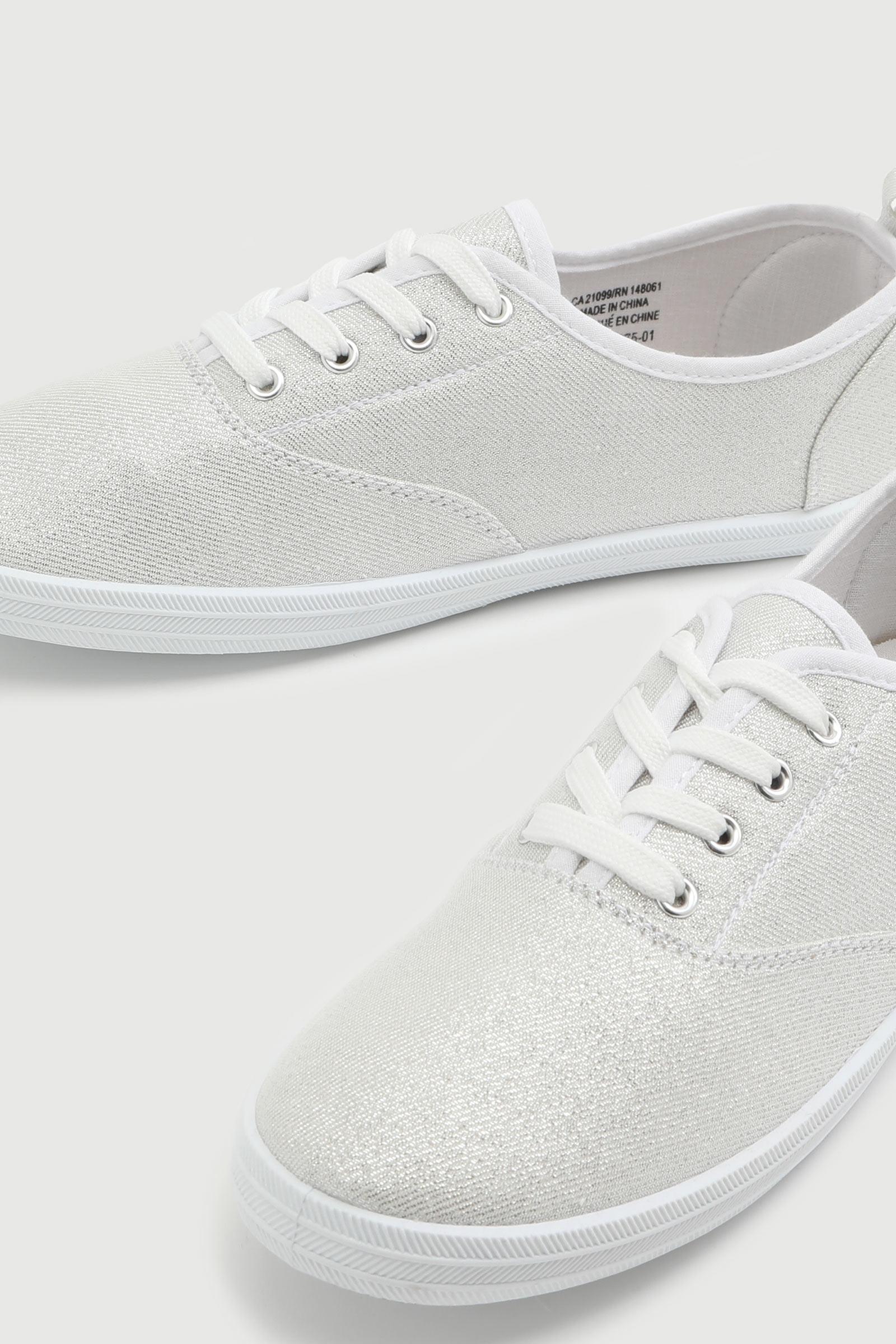 Glitter Canvas Sneakers