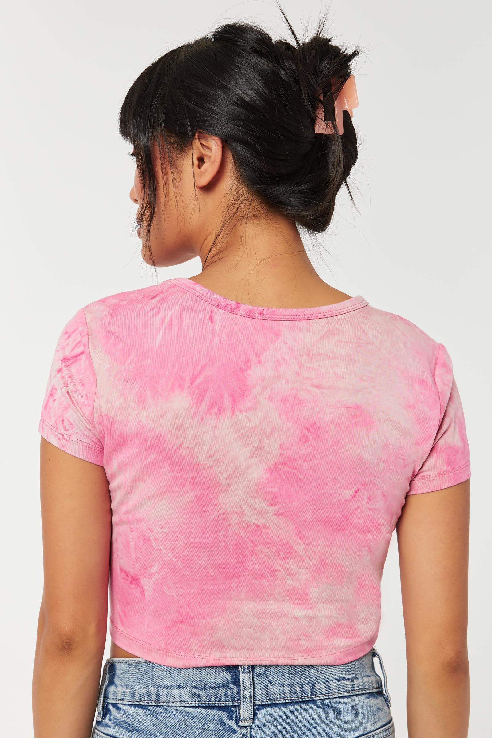 T-shirt court en coton tie-dye