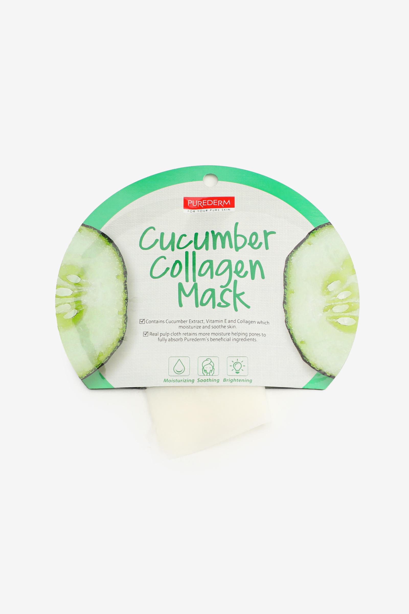 Masque de visage au concombre et collagène