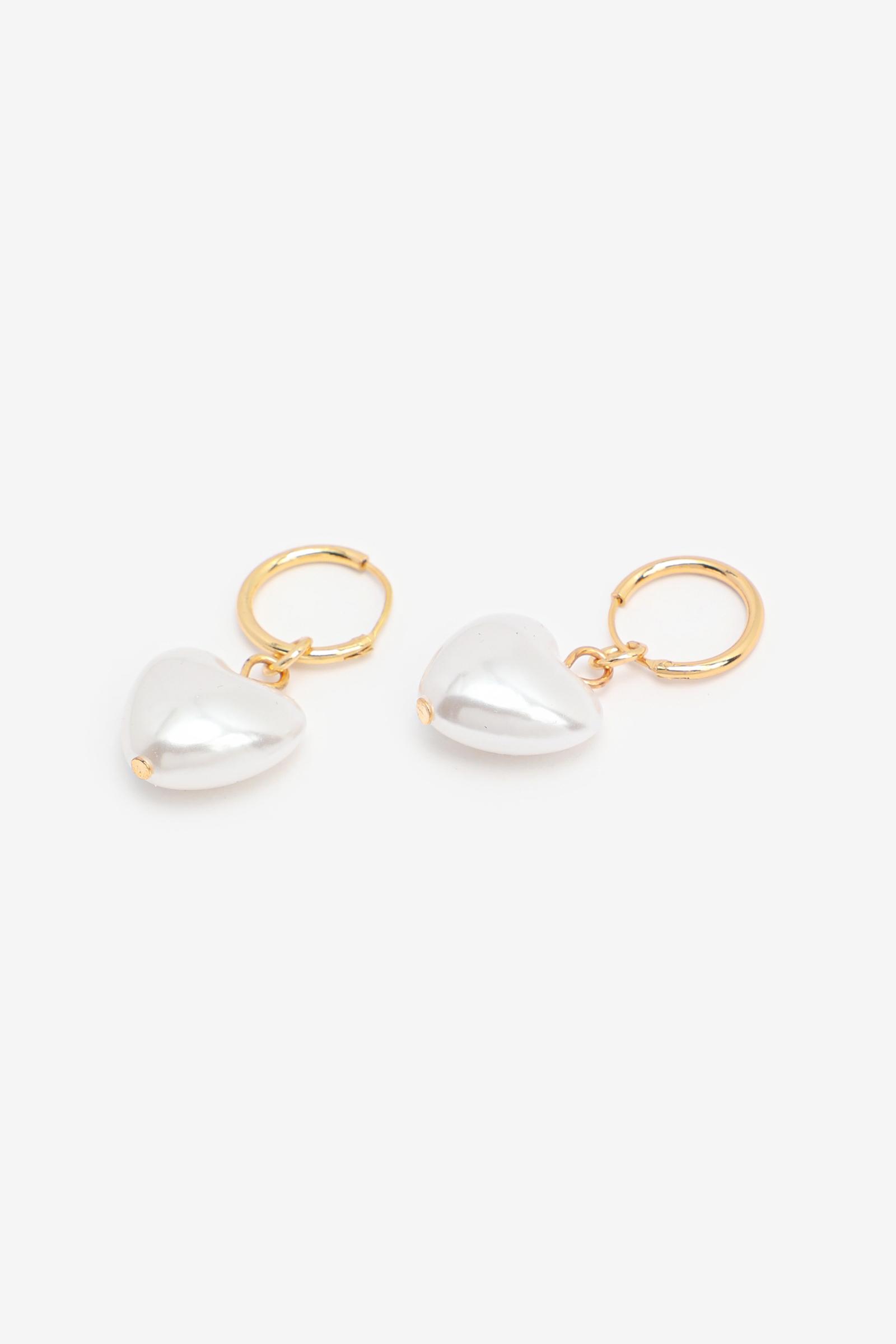 Dangling Heart Hoop Earrings