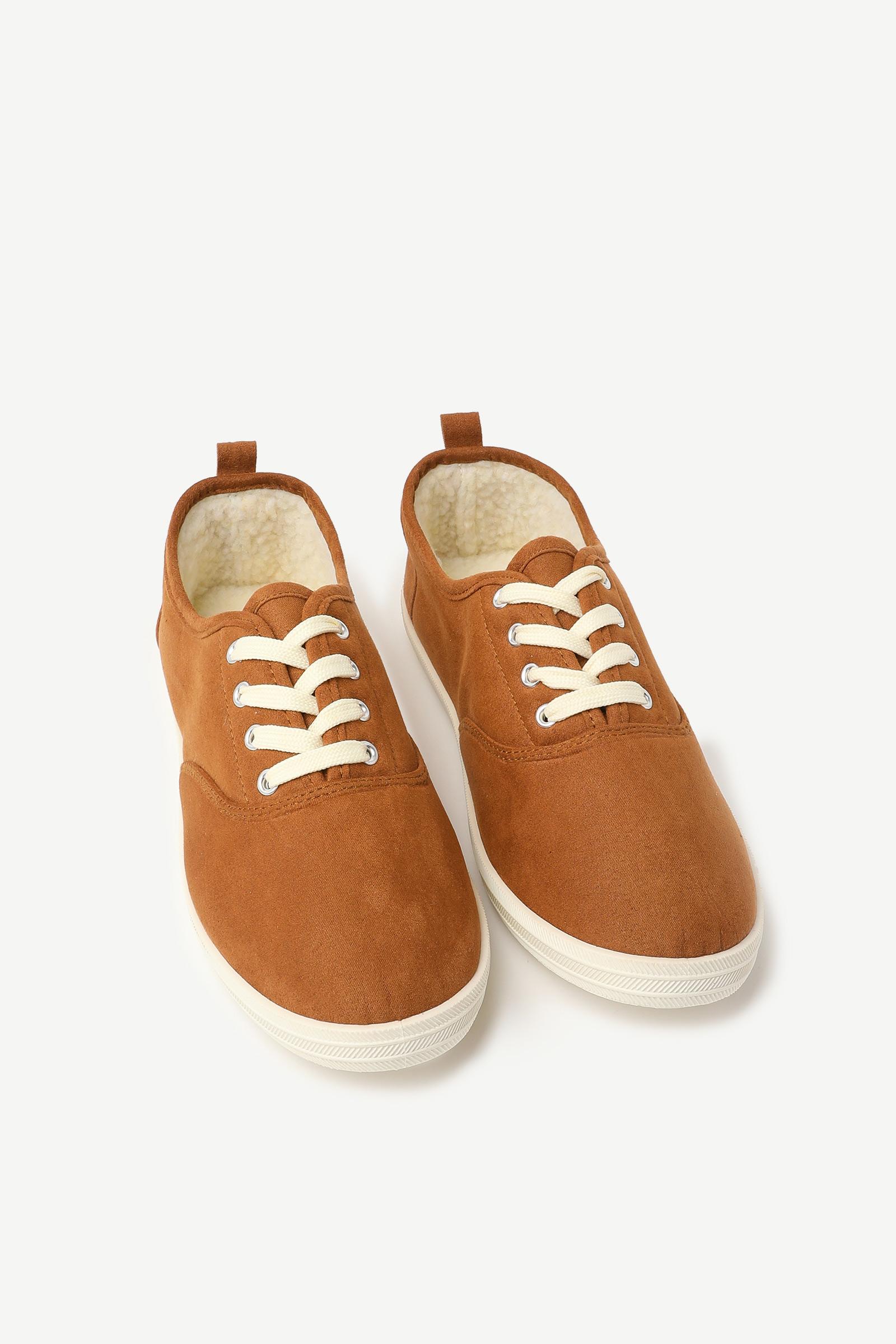 Faux Sherpa Sneakers