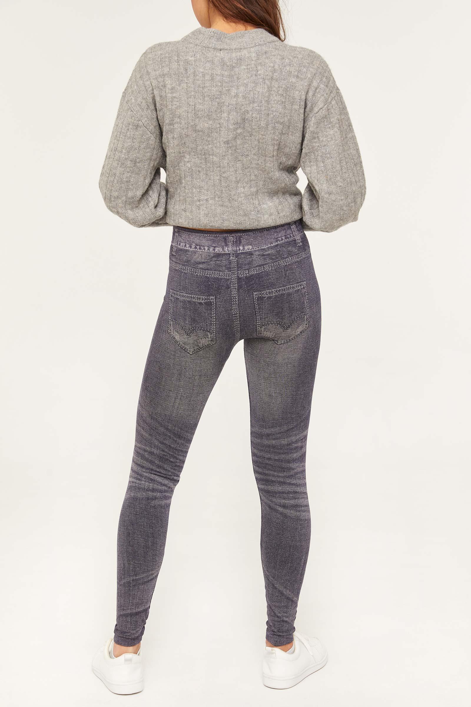 Denim Printed Leggings