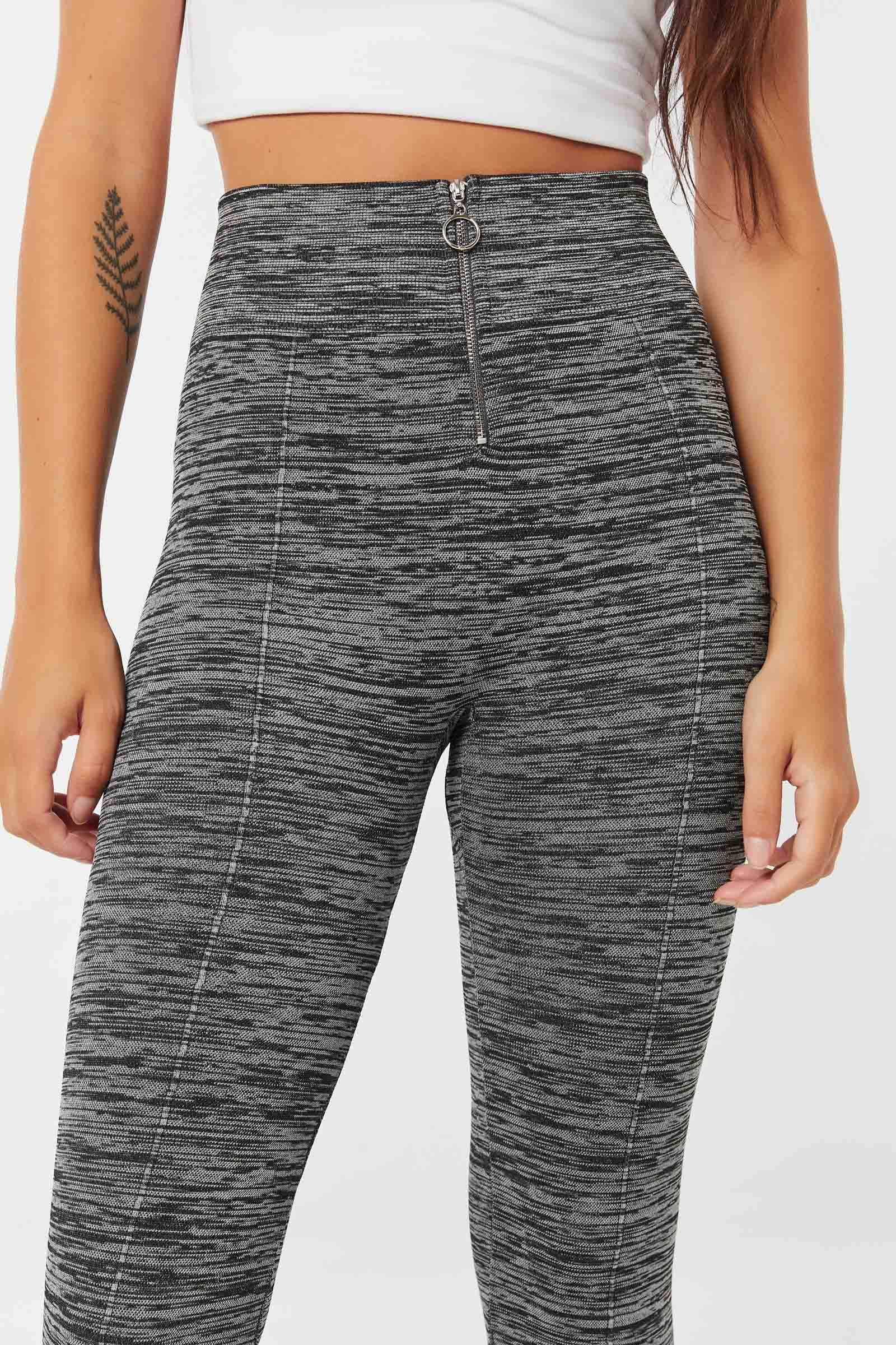 Seamless Leggings with Front Zip