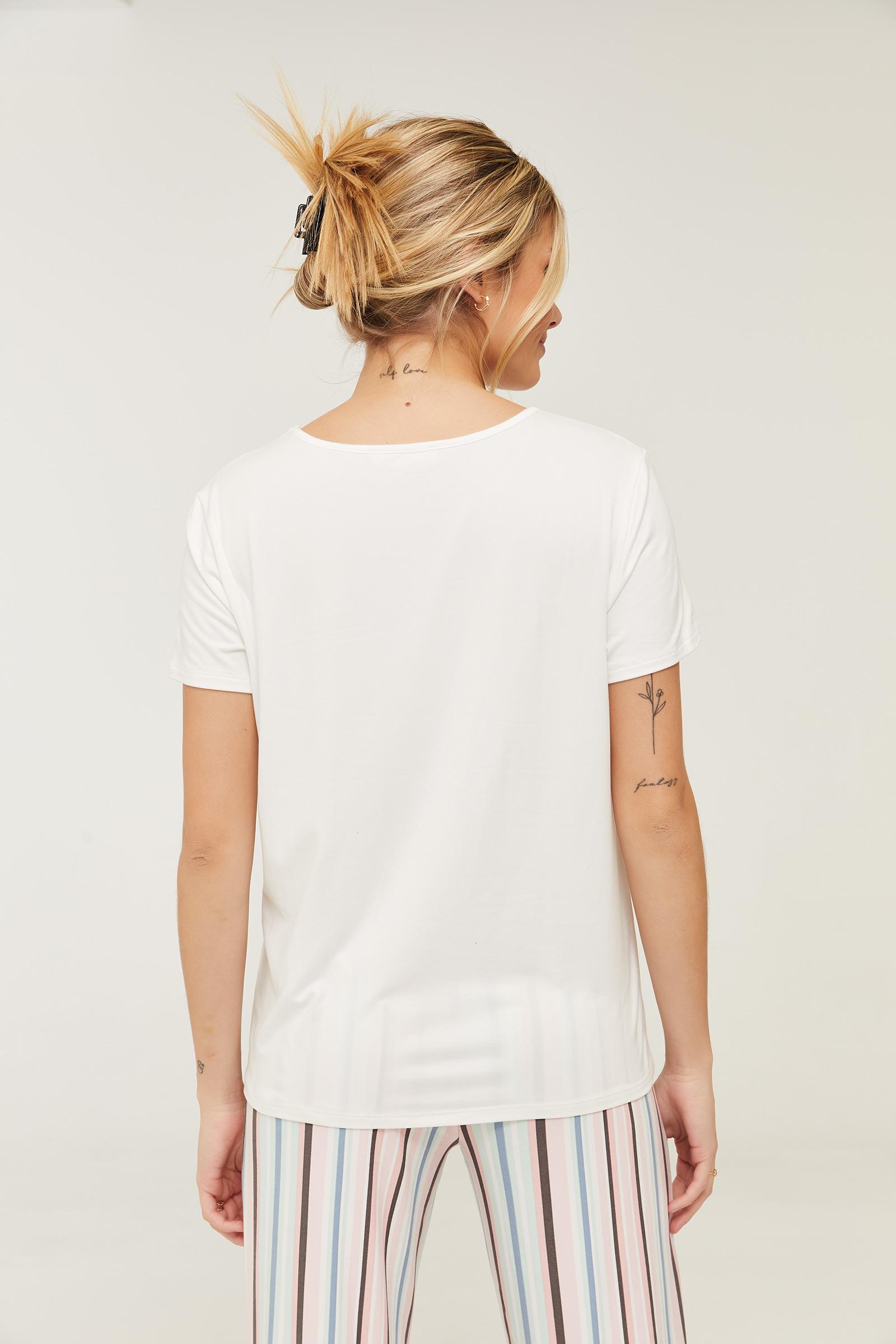 T-shirt de pyjama fleuri