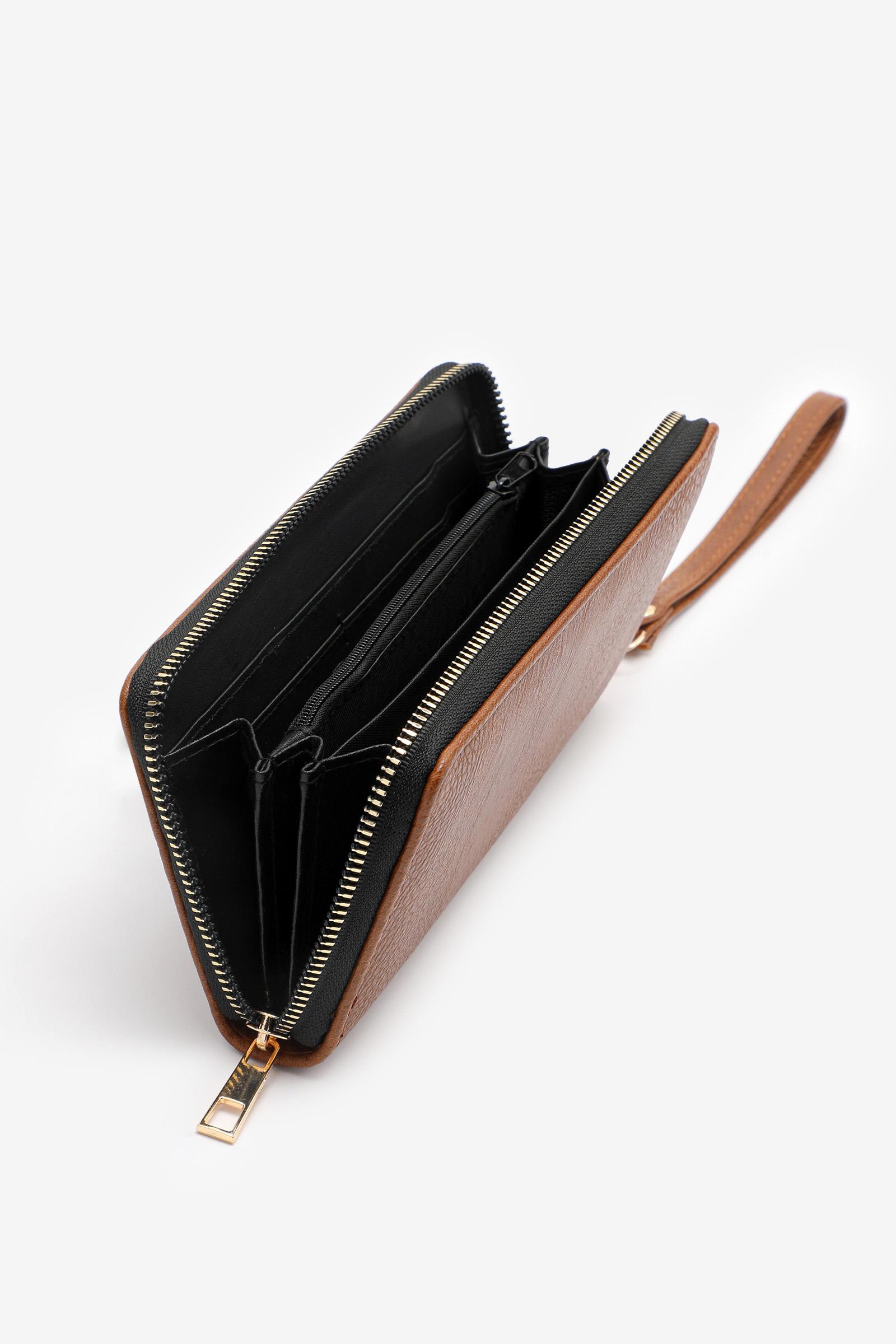 Portefeuille accordéon en faux cuir