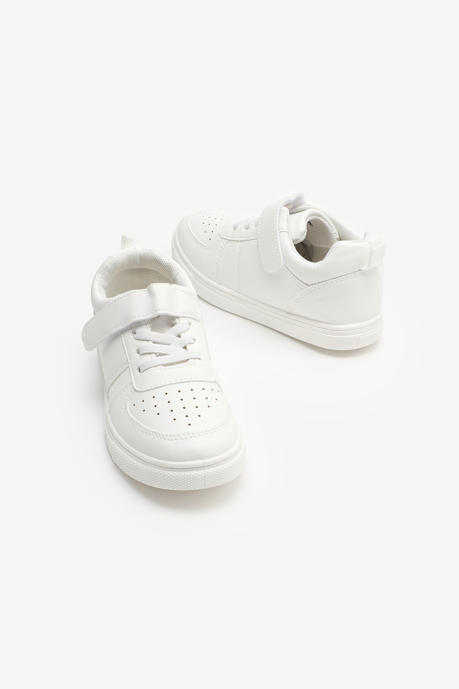 Laced Sneakers with Fastening Strap for Girls