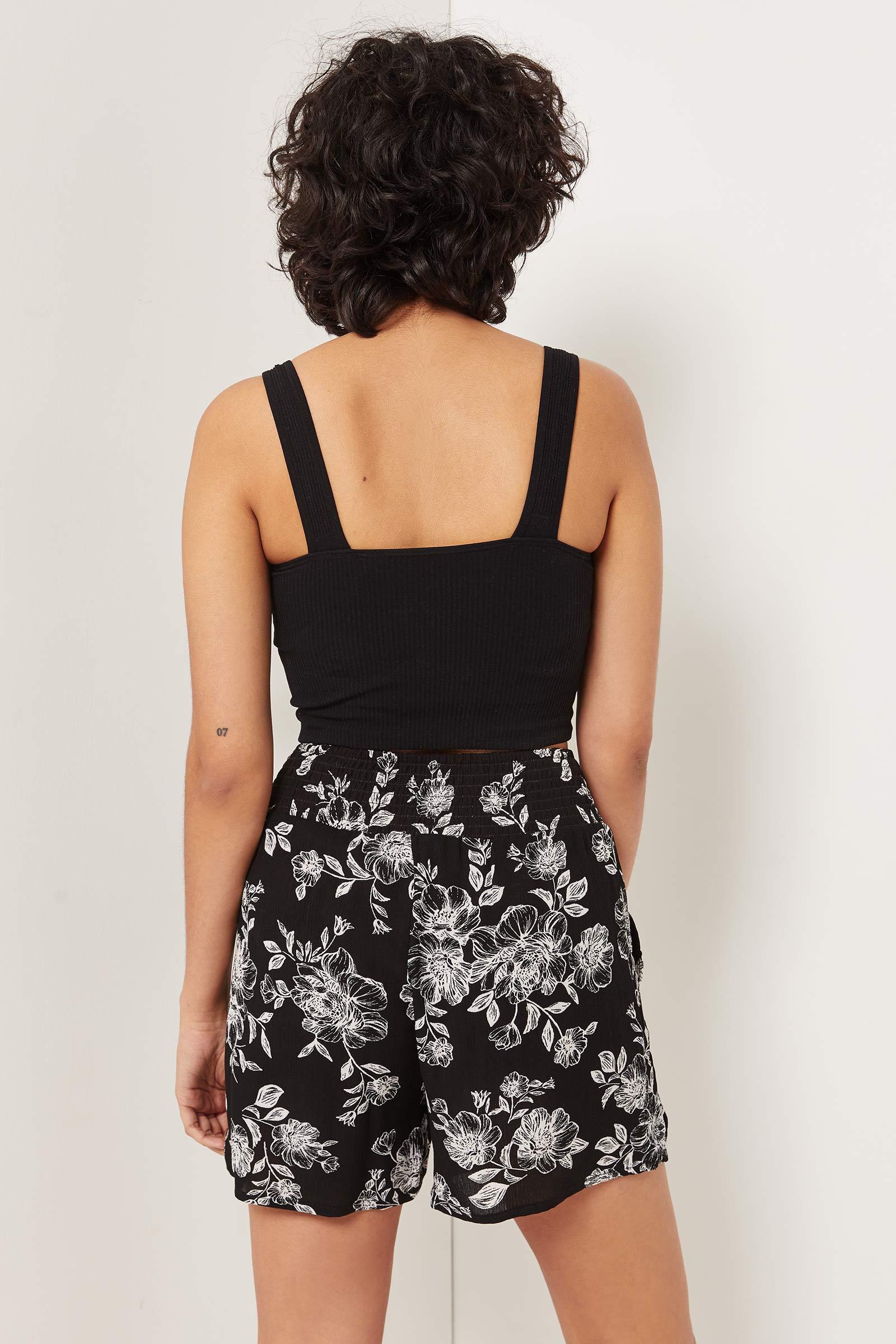 Smocked Floral Shorts