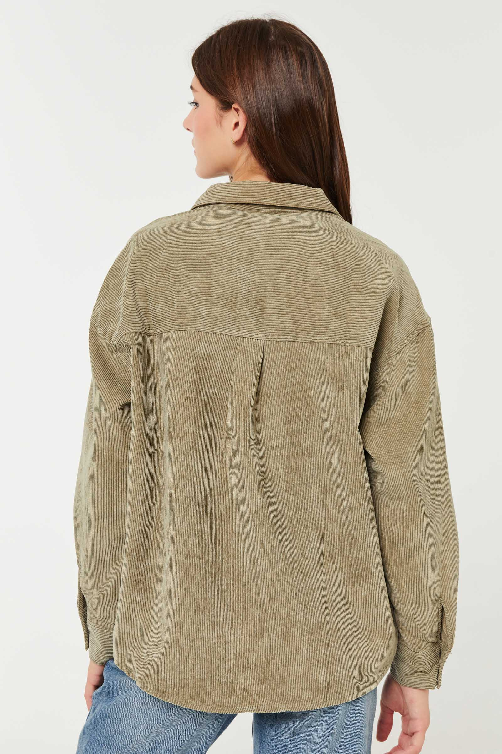 Corduroy Oversized Shirt