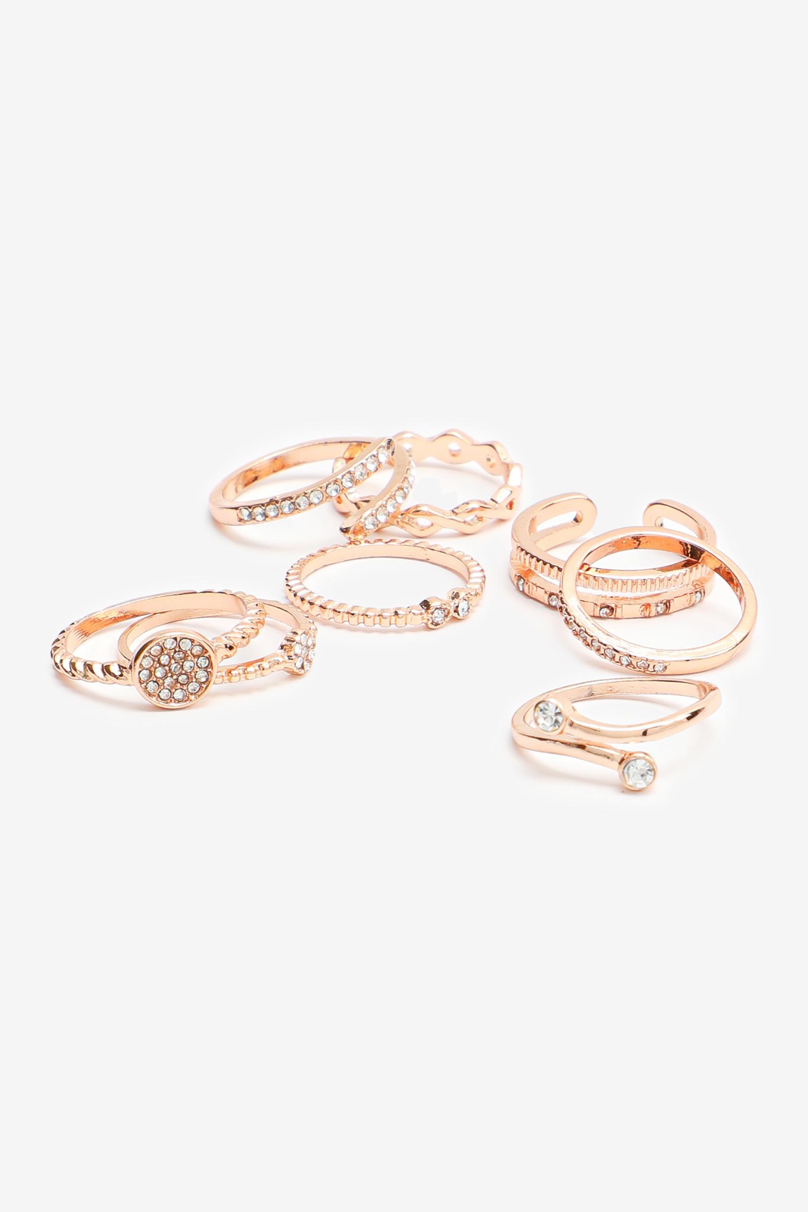 Pack of Vintage Rose Gold Rings