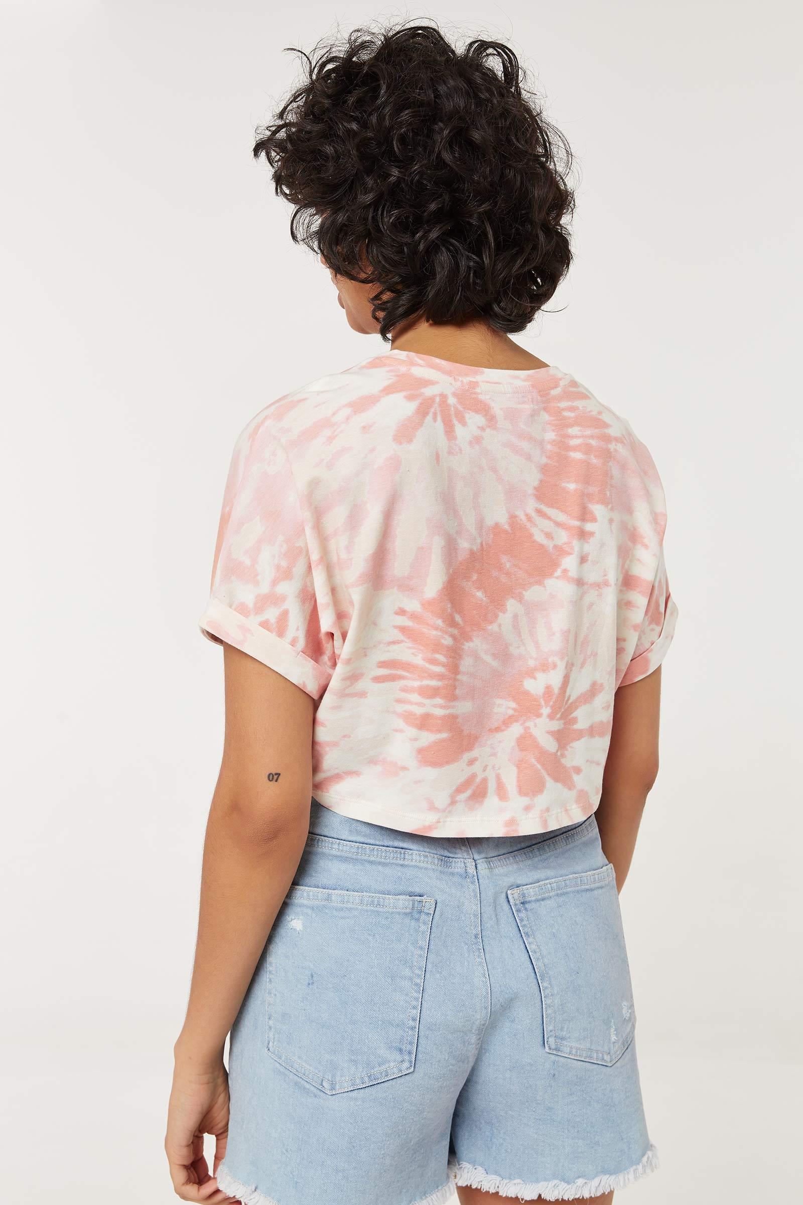 T-shirt court tie-dye éco-conscient