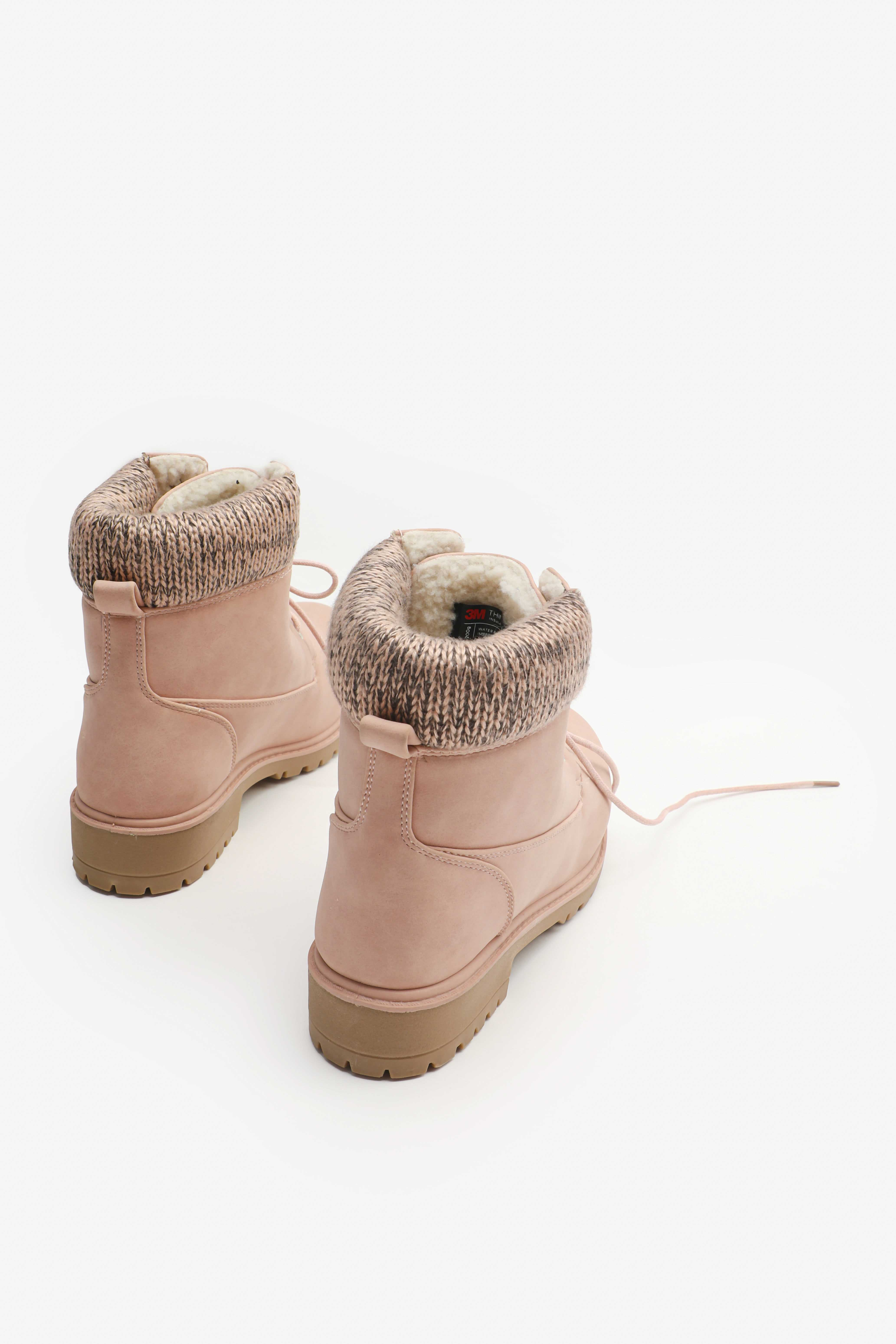Knit Cuff Ankle Boots