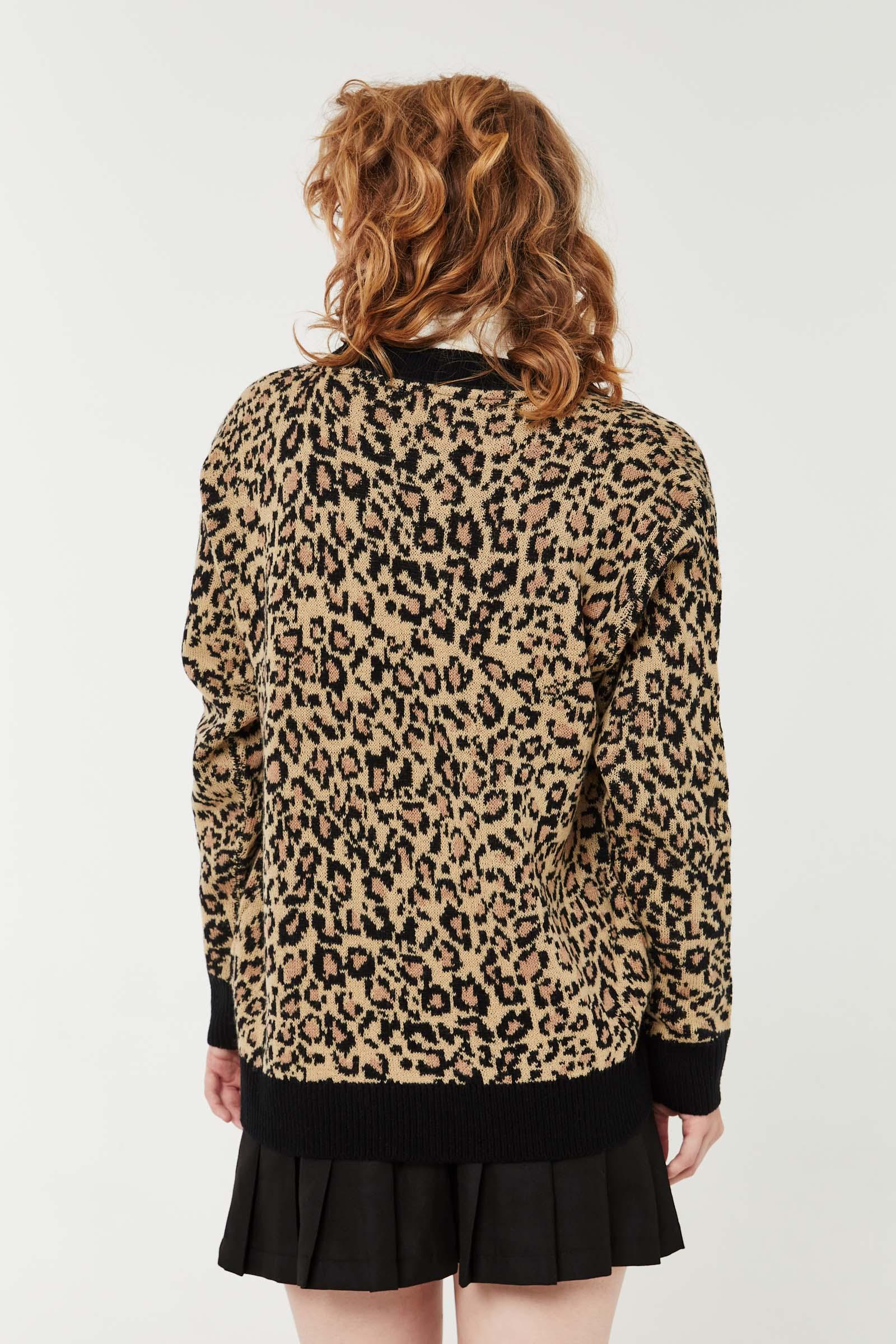Leopard V-Neck Cardigan