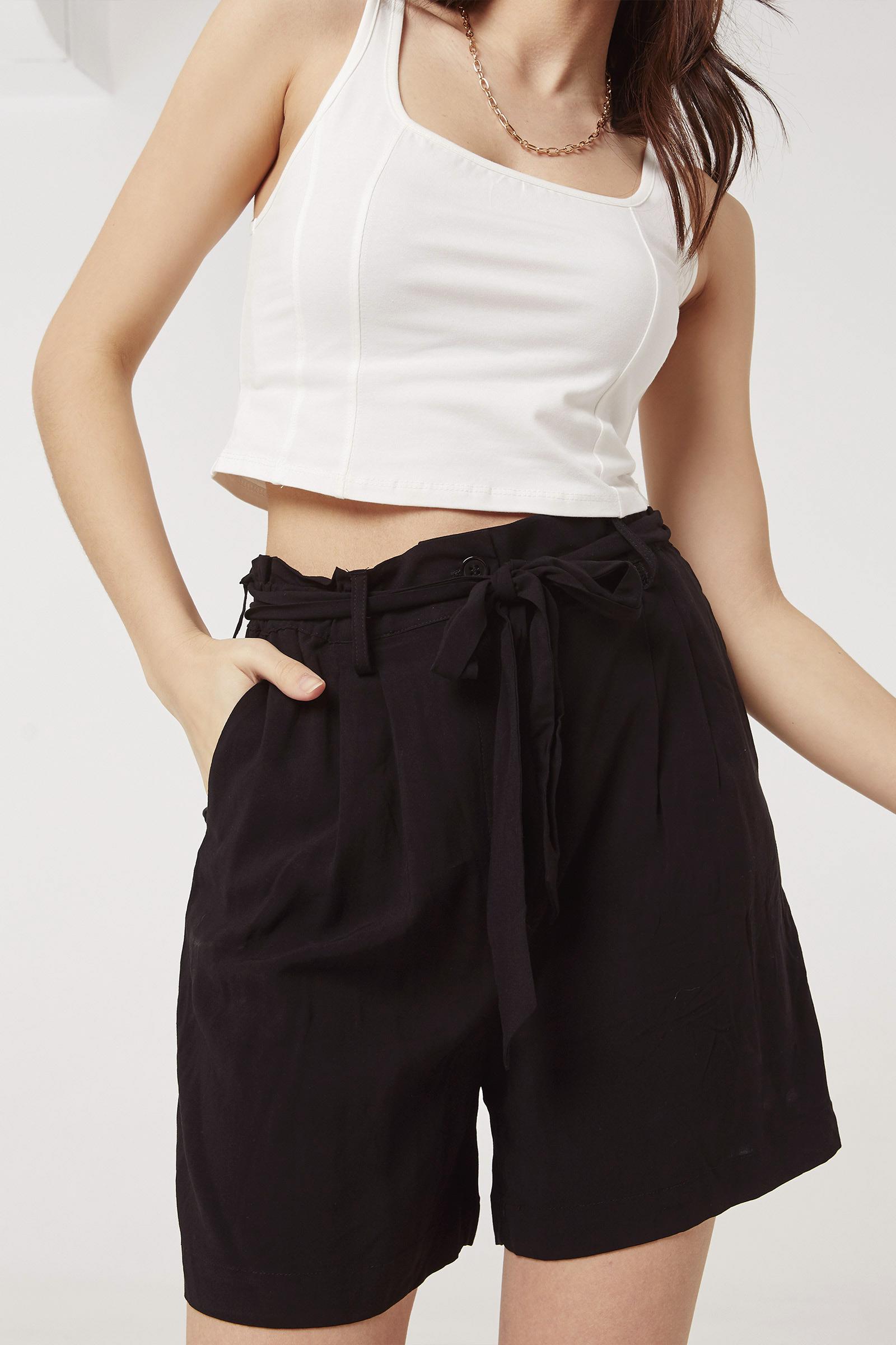 A.C.W. Ultra High Rise Paper Bag Shorts