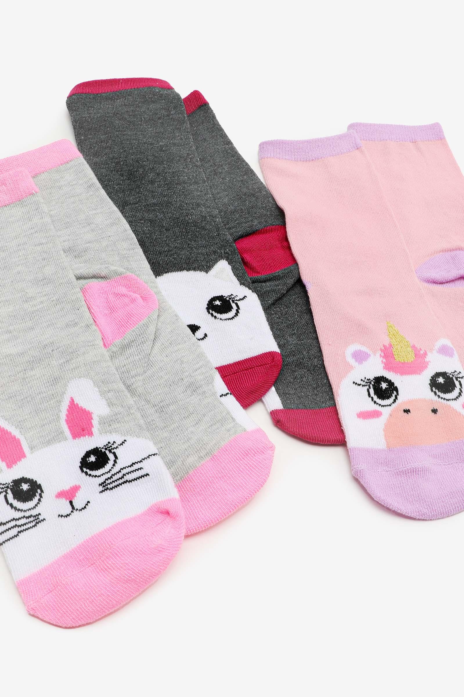 Animal Crew Socks for Girls