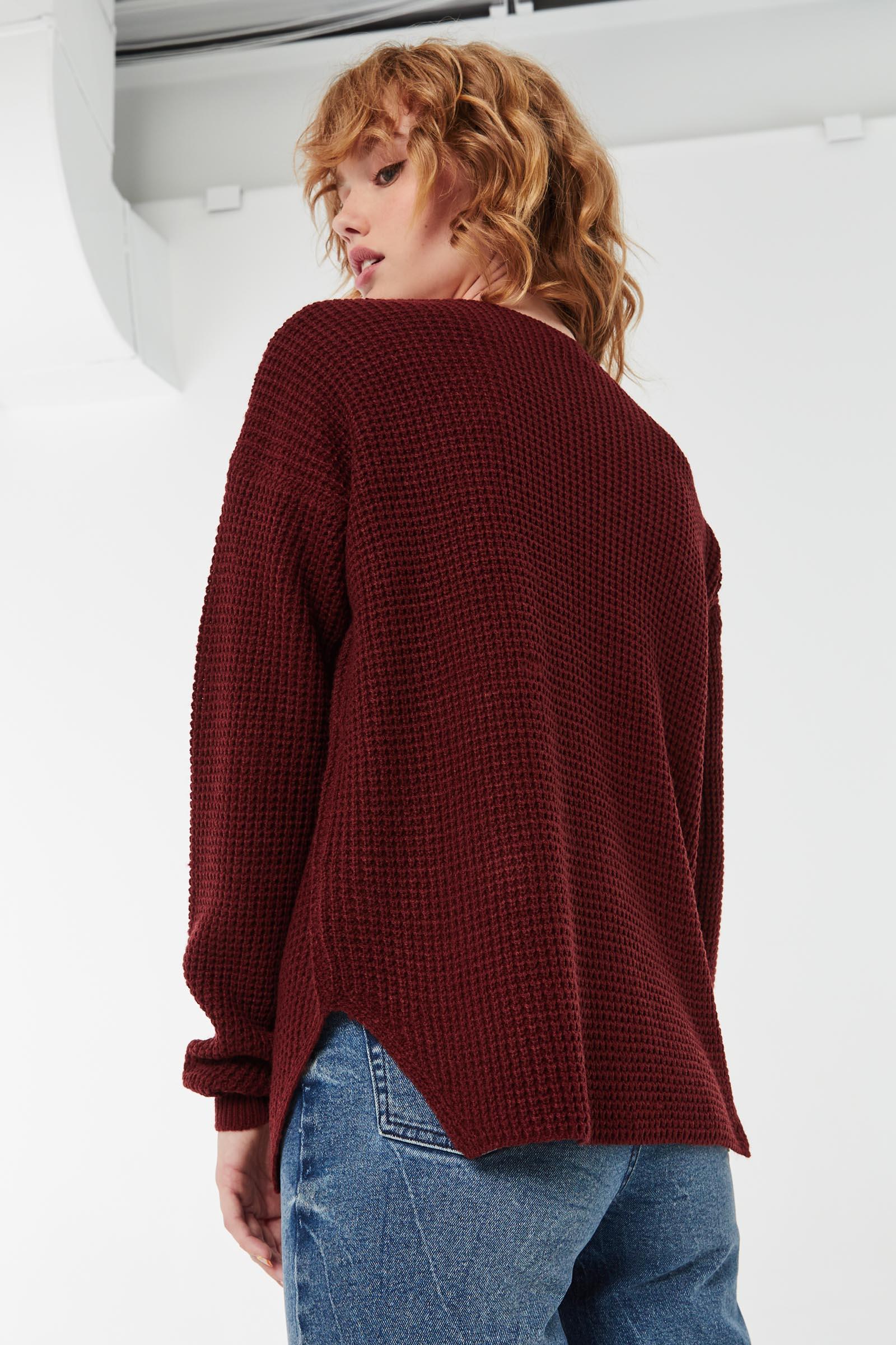 Basic Shaker-Stitch Sweater