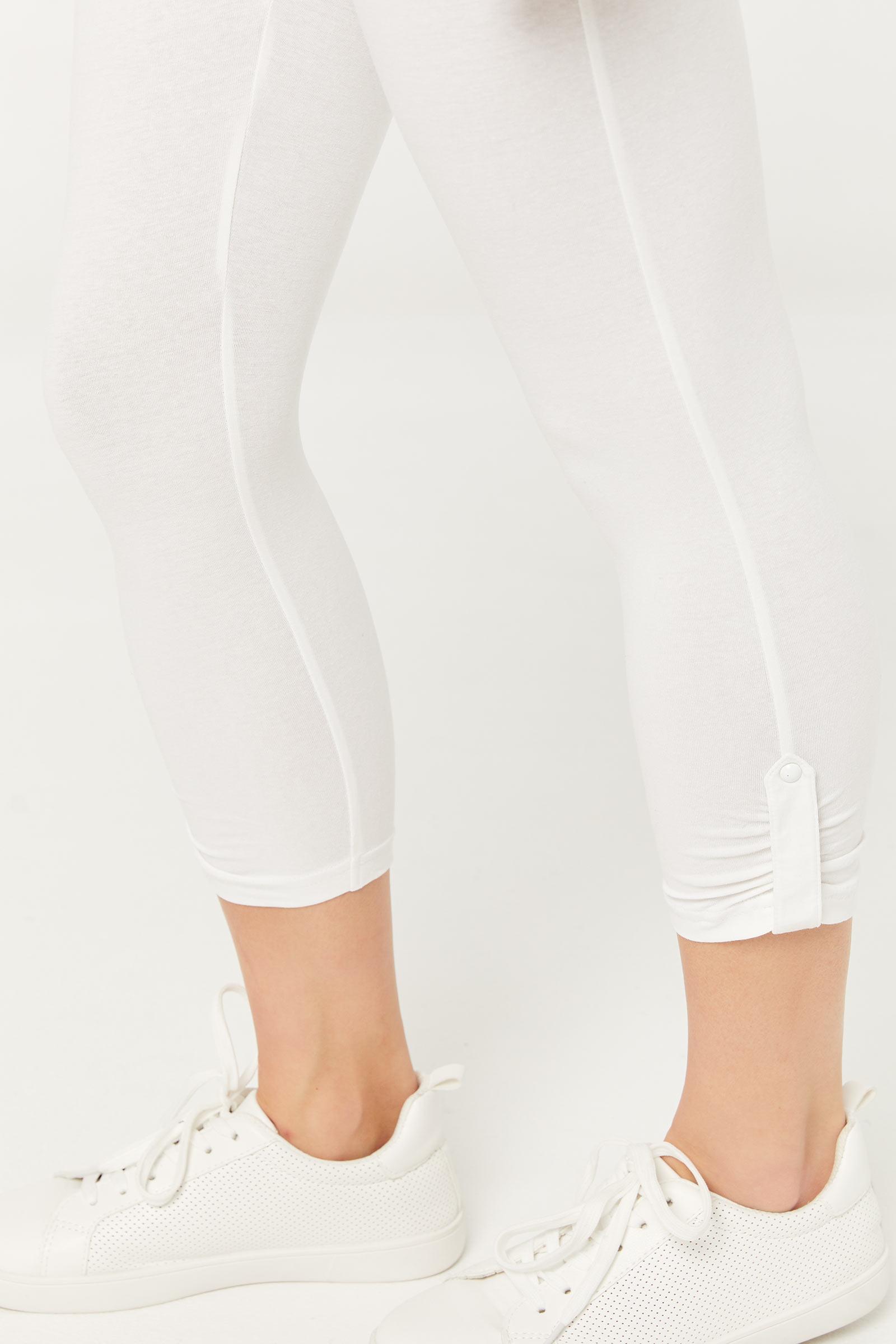 Cropped Ruched Leg Leggings