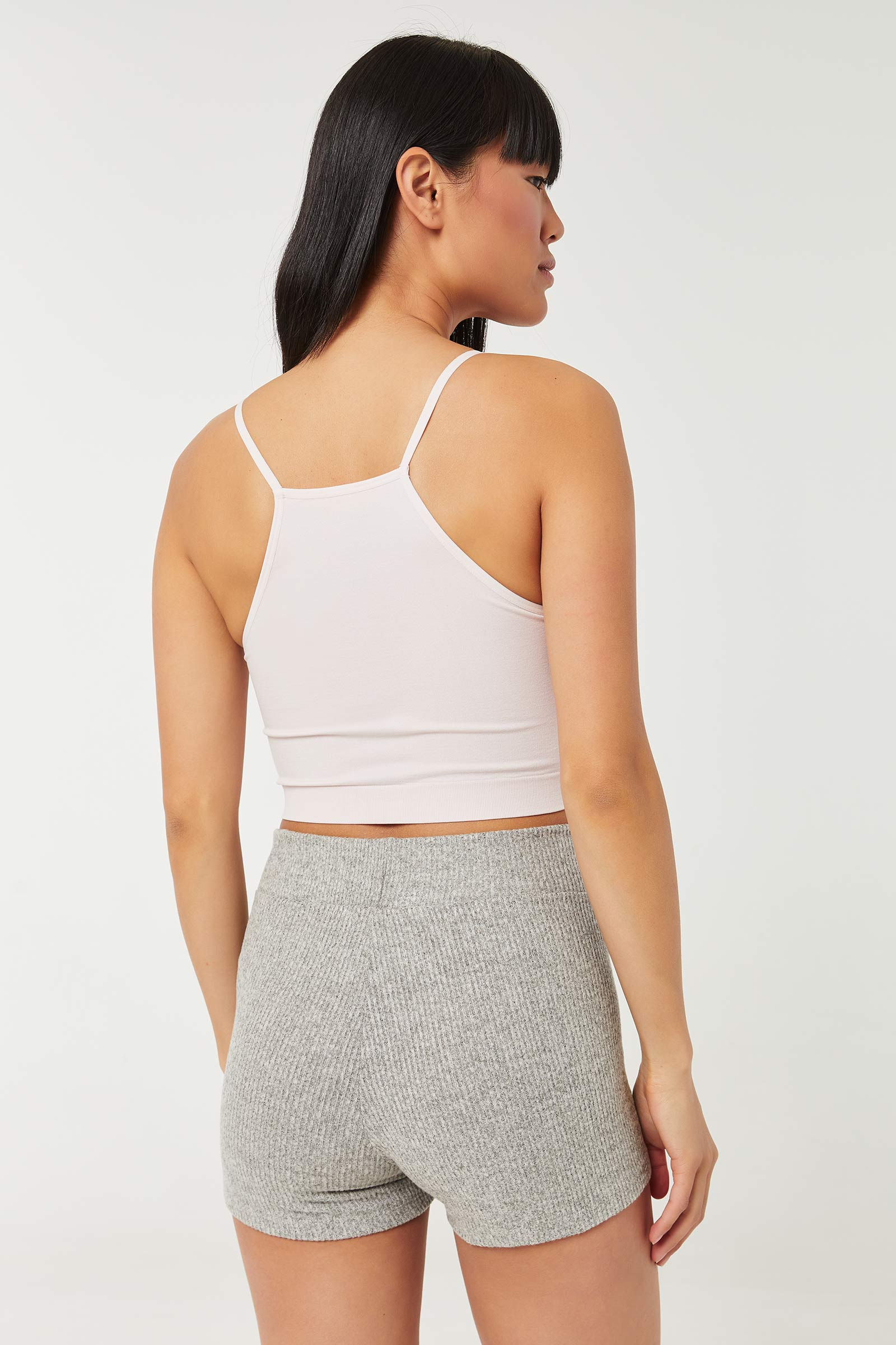 Knit Shorts with Tie Front Drawstring