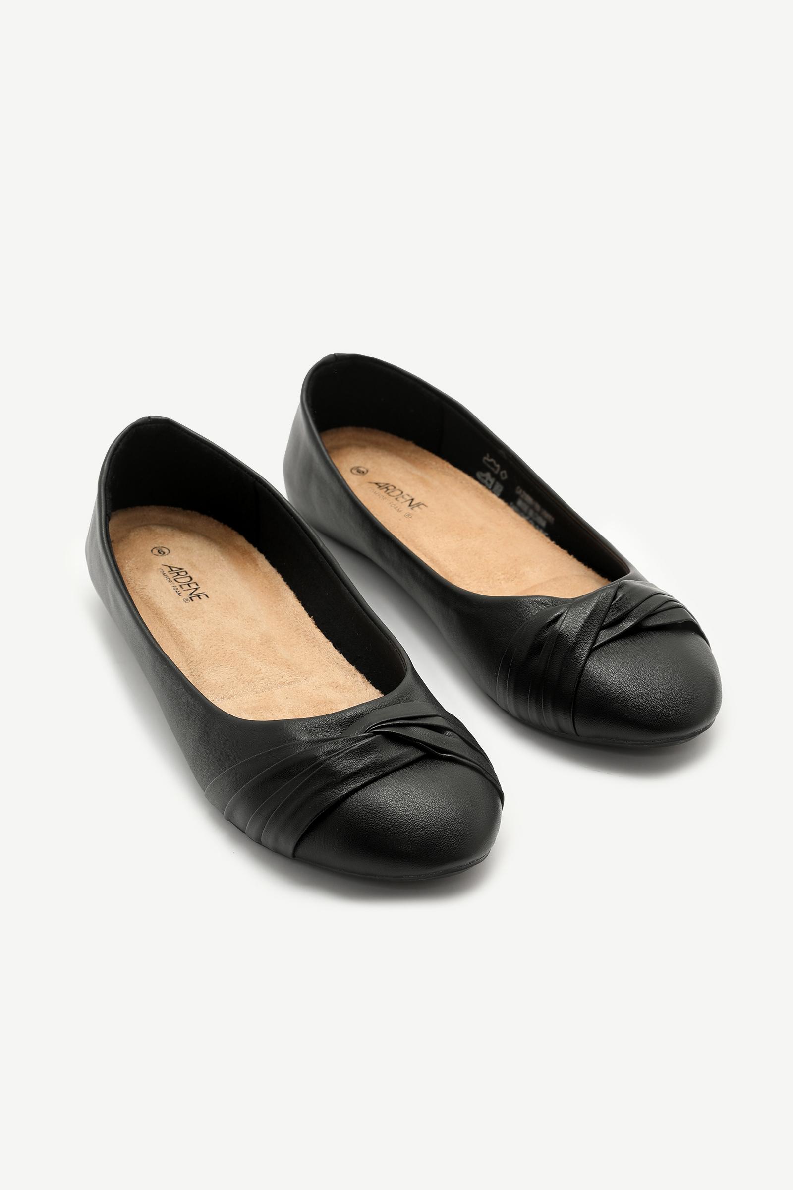 Pleated Ballet Flats